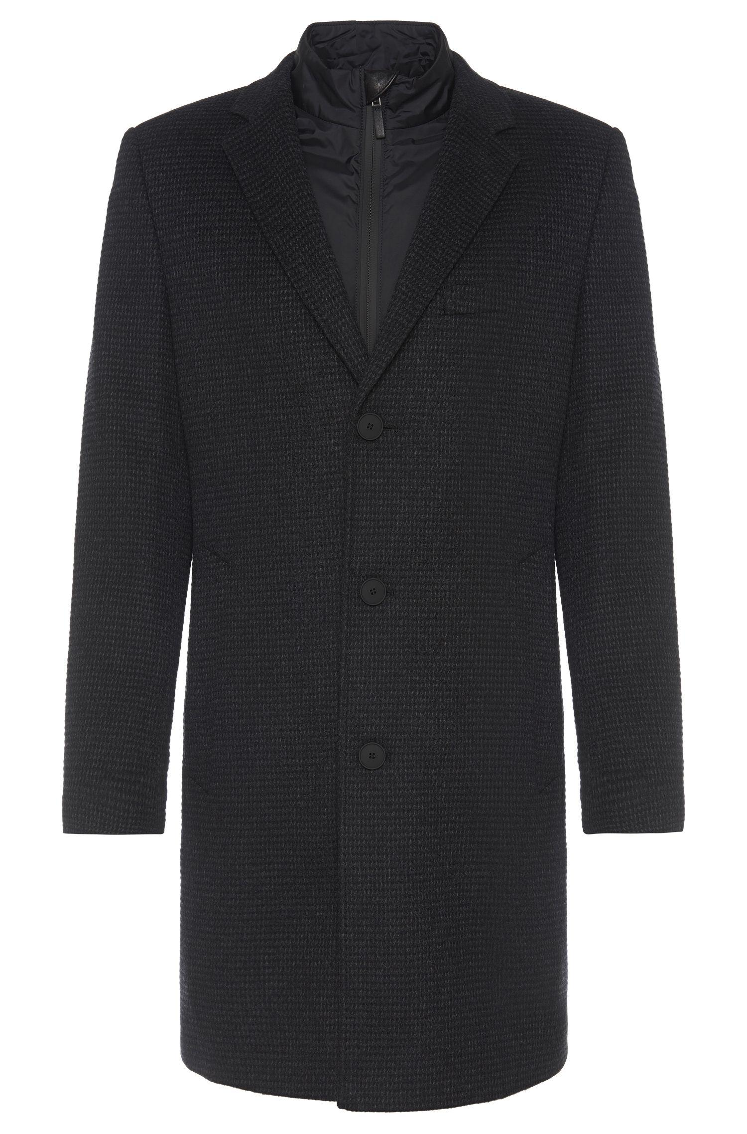 Tailored Mantel aus Schurwoll-Mix mit Kaschmir-Anteil und herausnehmbarer Innenjacke: 'T-Lennard2'