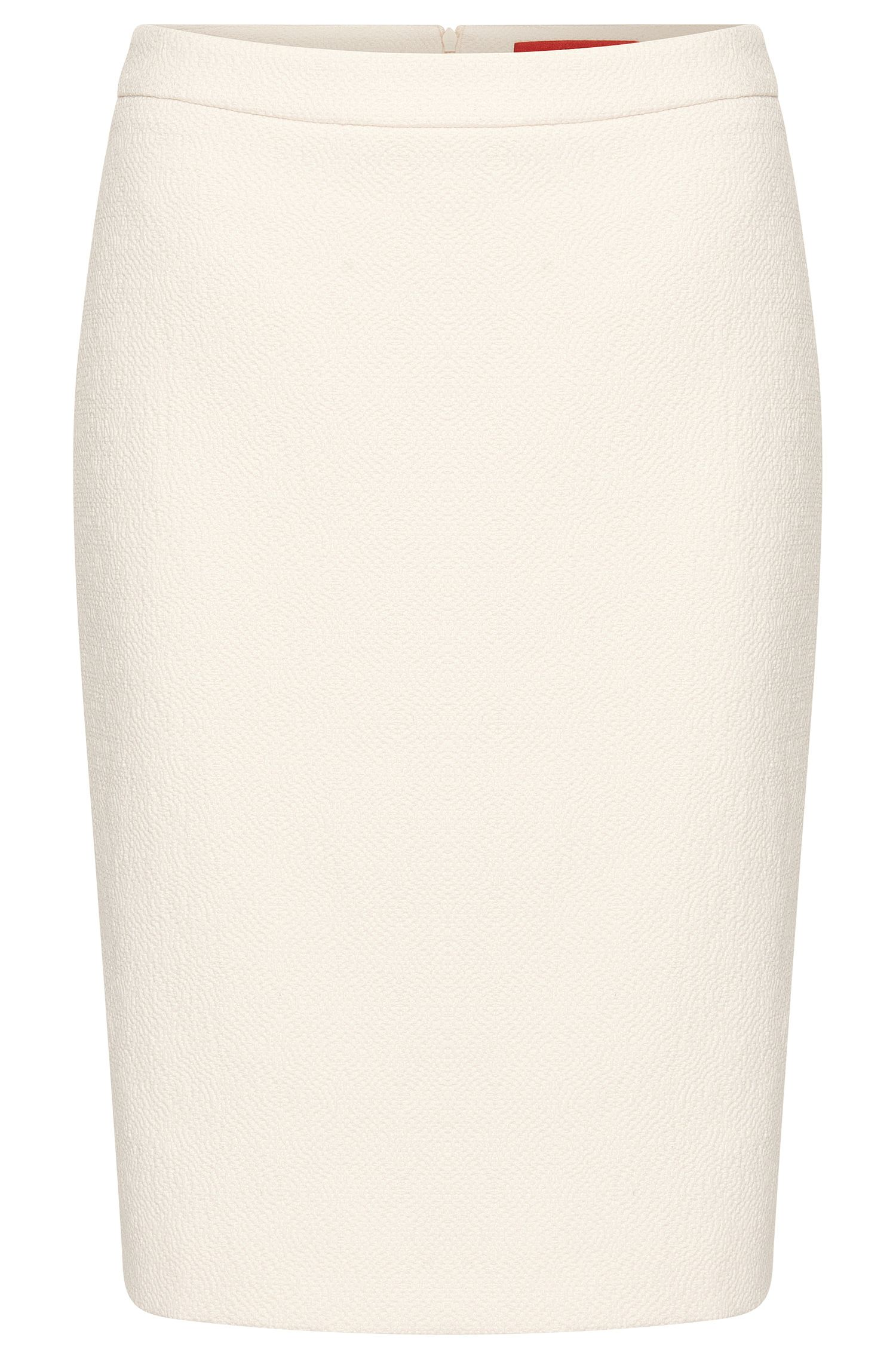 Skirt in a stretchy cotton blend with woven textured pattern: 'Ranine'