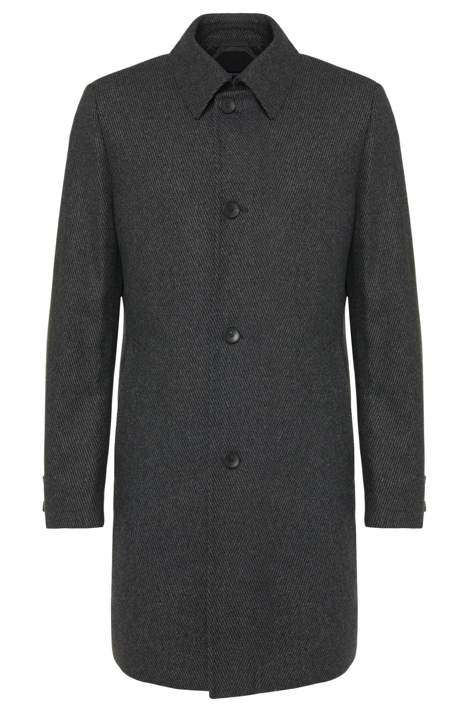 Finely striped coat in new-wool blend: 'Task1'