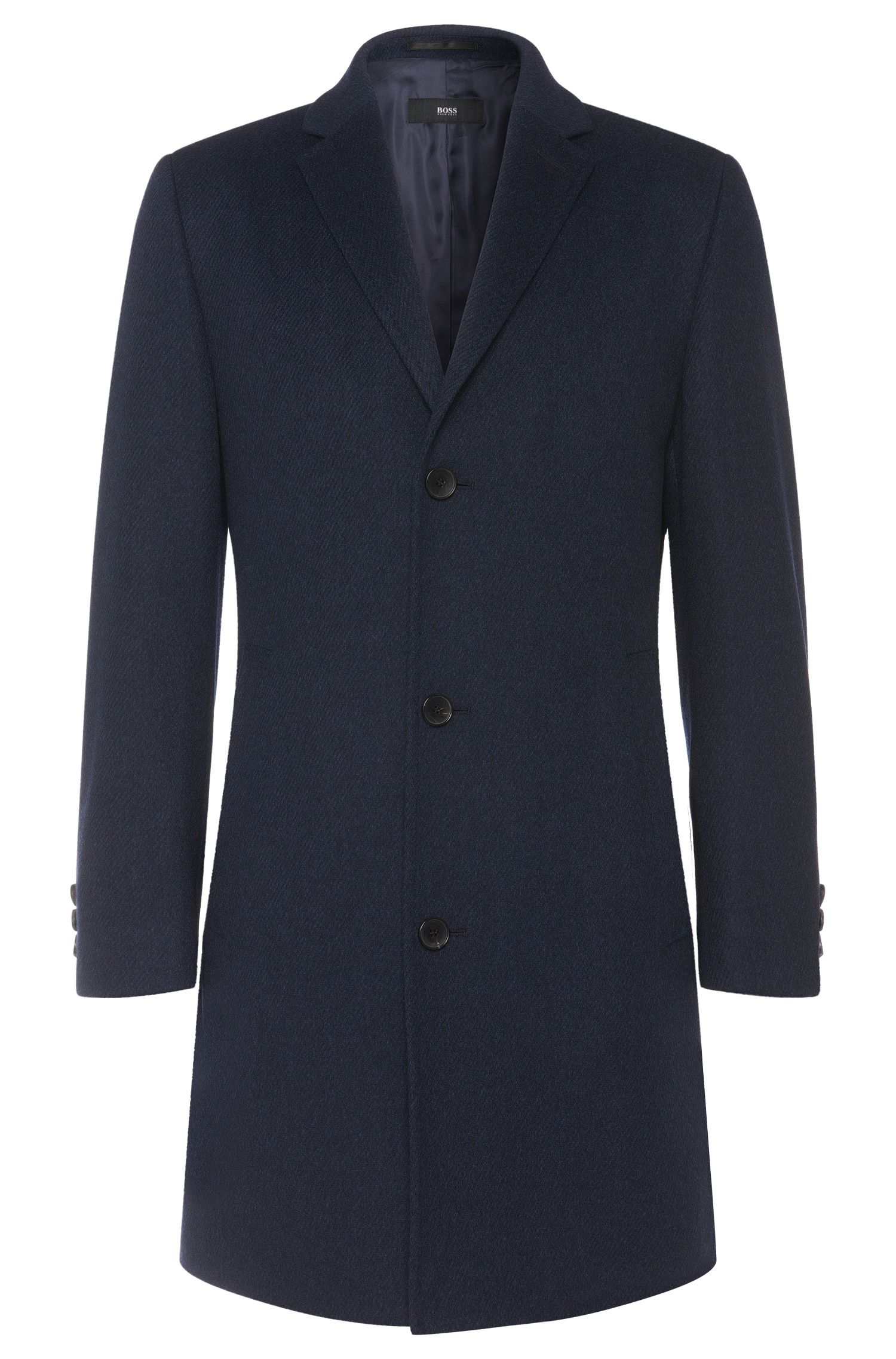 Coat in a new-wool blend with cashmere: 'Stratus1'