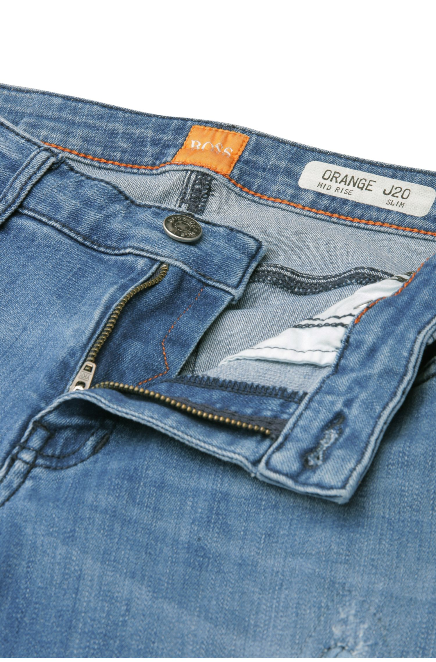 Slim-Fit Jeans aus Baumwolle mit Elasthan: ´Orange J20 Berlin`