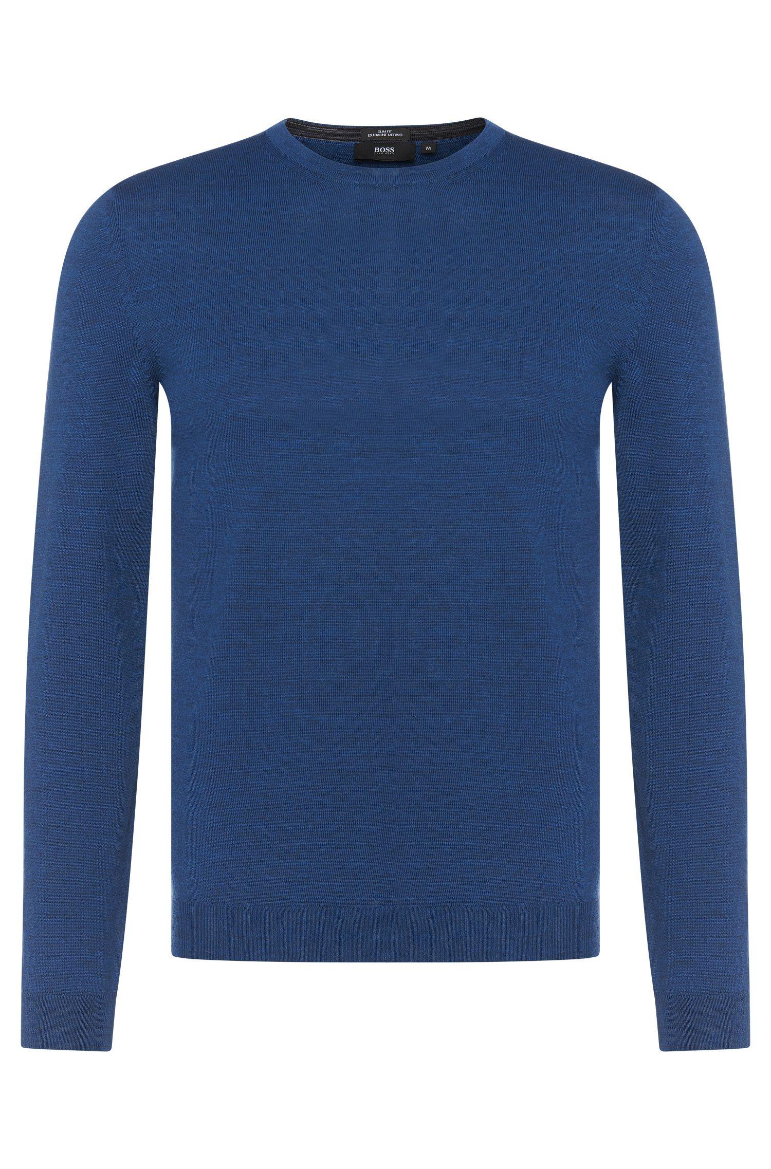 Maglione slim fit in lana vergine: 'Baker-B'