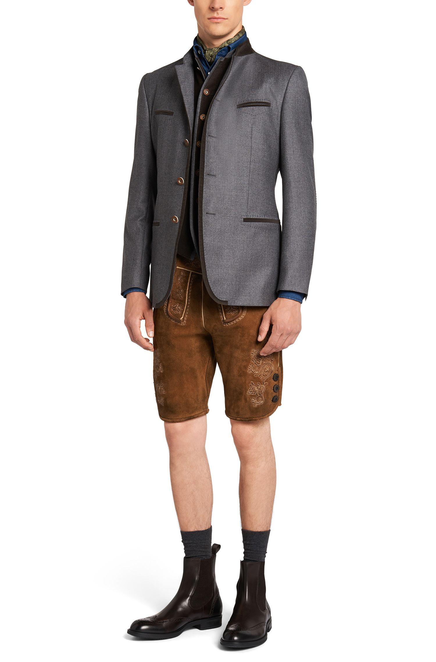 Chemise en jean Slim Fit en coton à poches-poitrine plaquées: «Jesk»