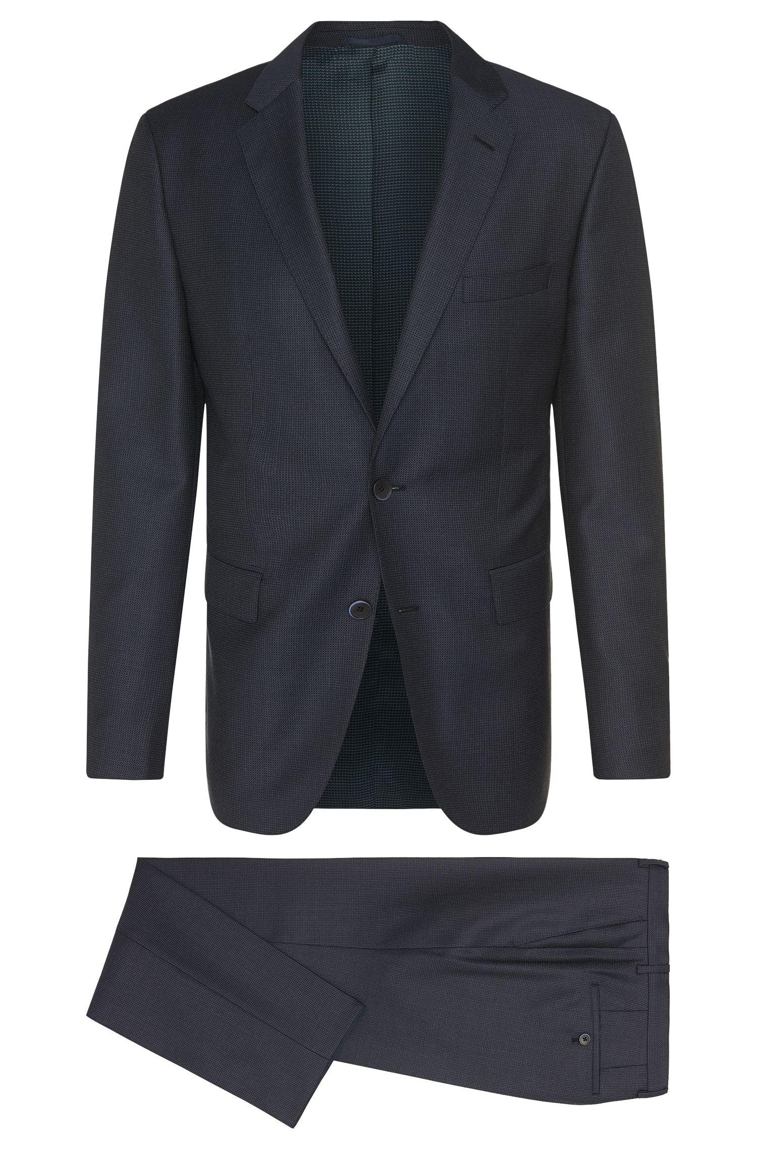 Fein gemusterter Regular-Fit Anzug aus Schurwolle: 'Jewels/Linus'