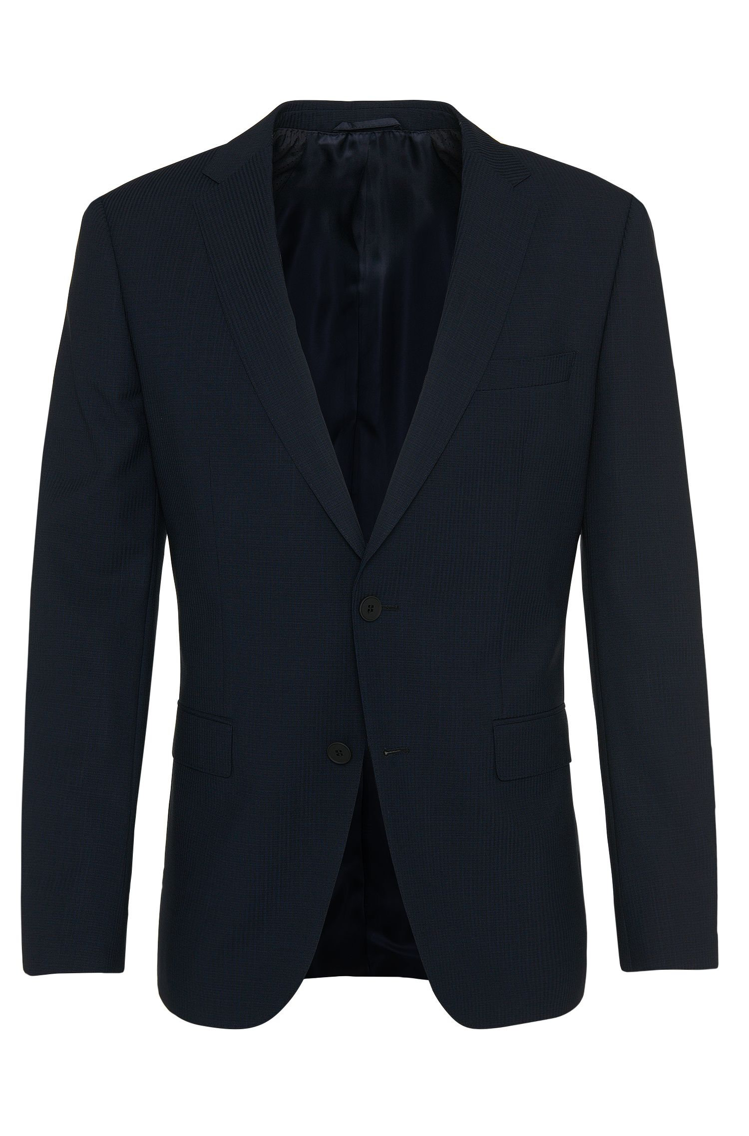 Fein gestreifter Slim-Fit Travel Line Anzug aus Schurwolle: 'Nestro1/Byte1'