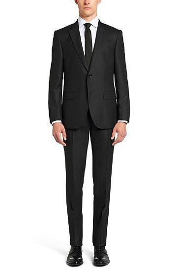 Regular-Fit Tailored Anzug aus Schurwoll-Mix mit Seide: 'T-Howard/Court5', Anthrazit