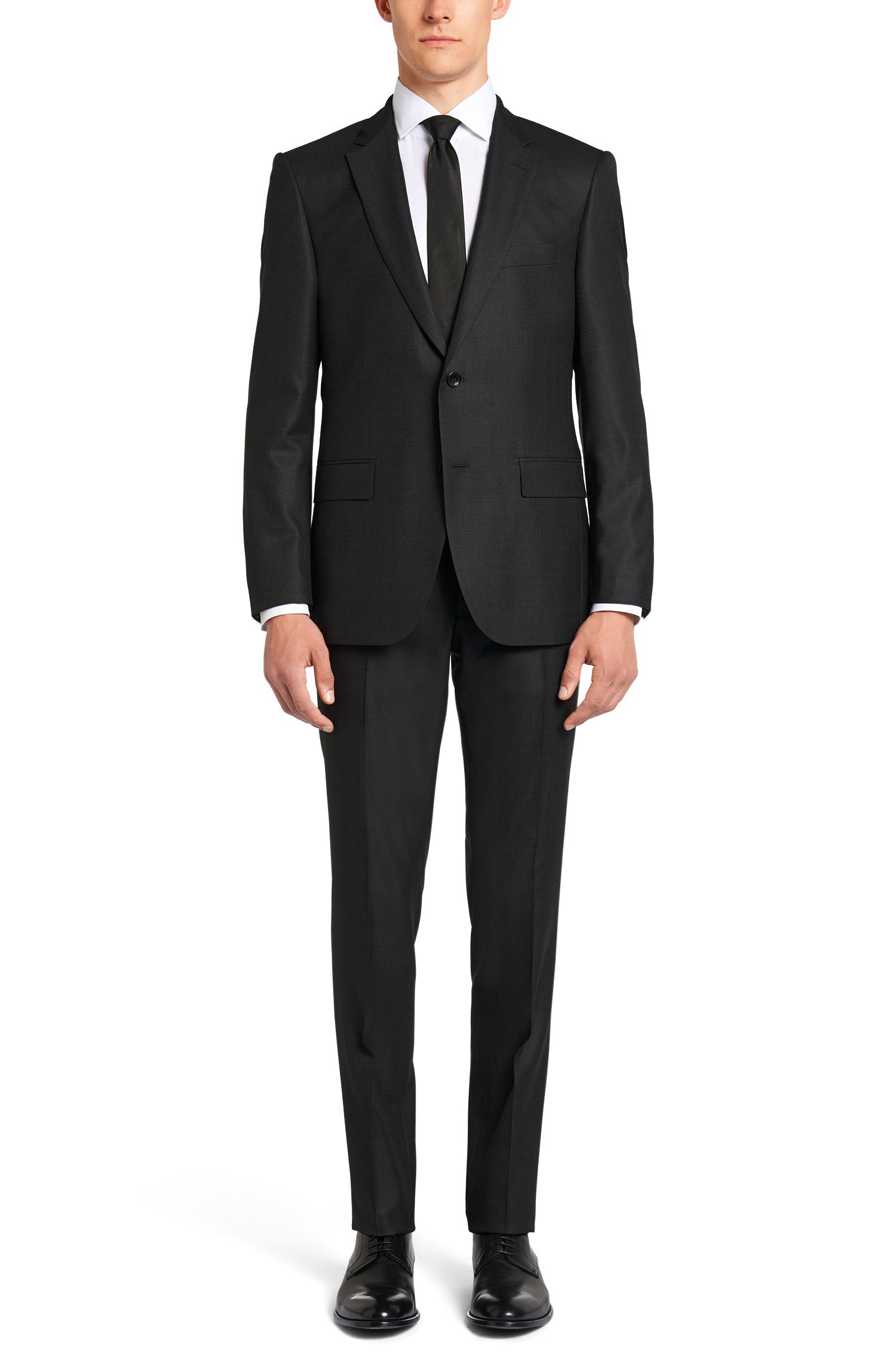 Regular-fit kostuum van een scheerwolmix met zijde uit de Tailored-collectie: 'T-Howard/Court5'