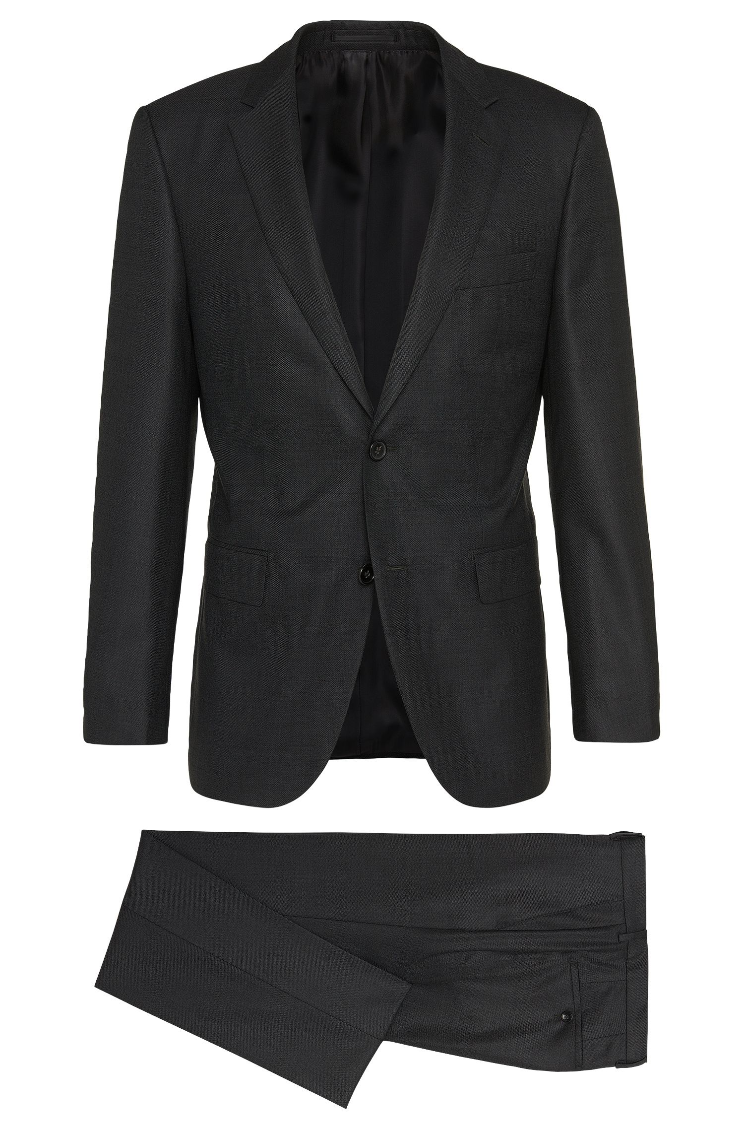 Regular-fit Tailored suit in new-wool blend with silk: 'T-Howard/Court5'