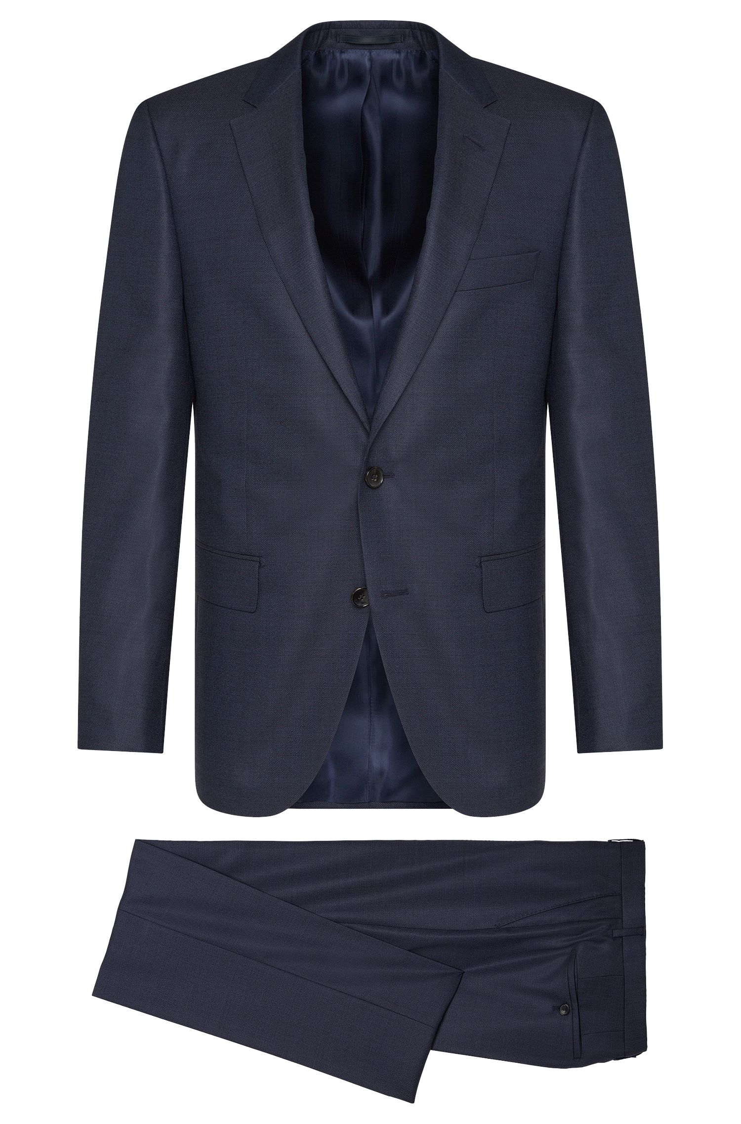Regular-Fit Tailored Anzug aus Schurwoll-Mix mit Seide: 'T-Howard/Court5'