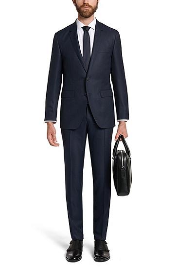 Extra Slim-Fit Tailored Anzug aus Schurwoll-Mix mit Seiden-Anteil: 'T-Reeve1/Wain', Dunkelblau