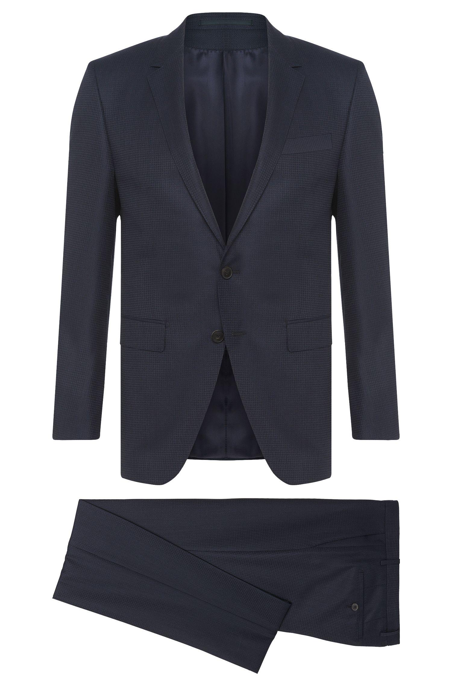 Extra slim-fit kostuum uit de Tailored-collectie van een scheerwolmix met zijde: 'T-Reeve1/Wain'