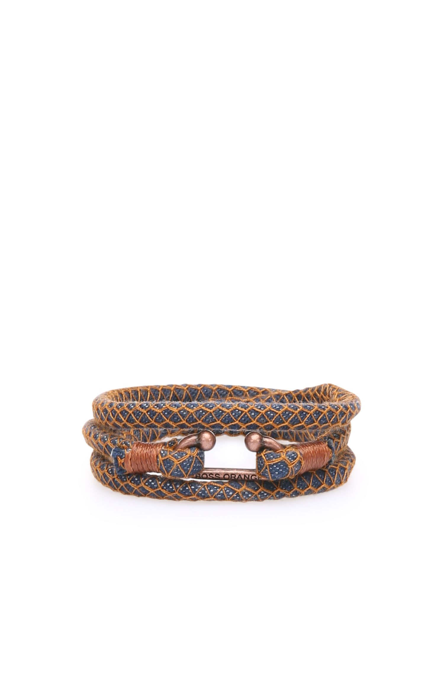 Bracelet enroulé fermé par une agrafe en métal: «Mendrix3»