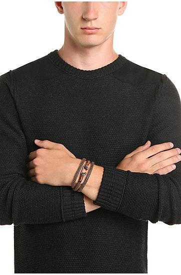 Wickelarmband mit Metall-Haken: ´Mendrix3`, Blau