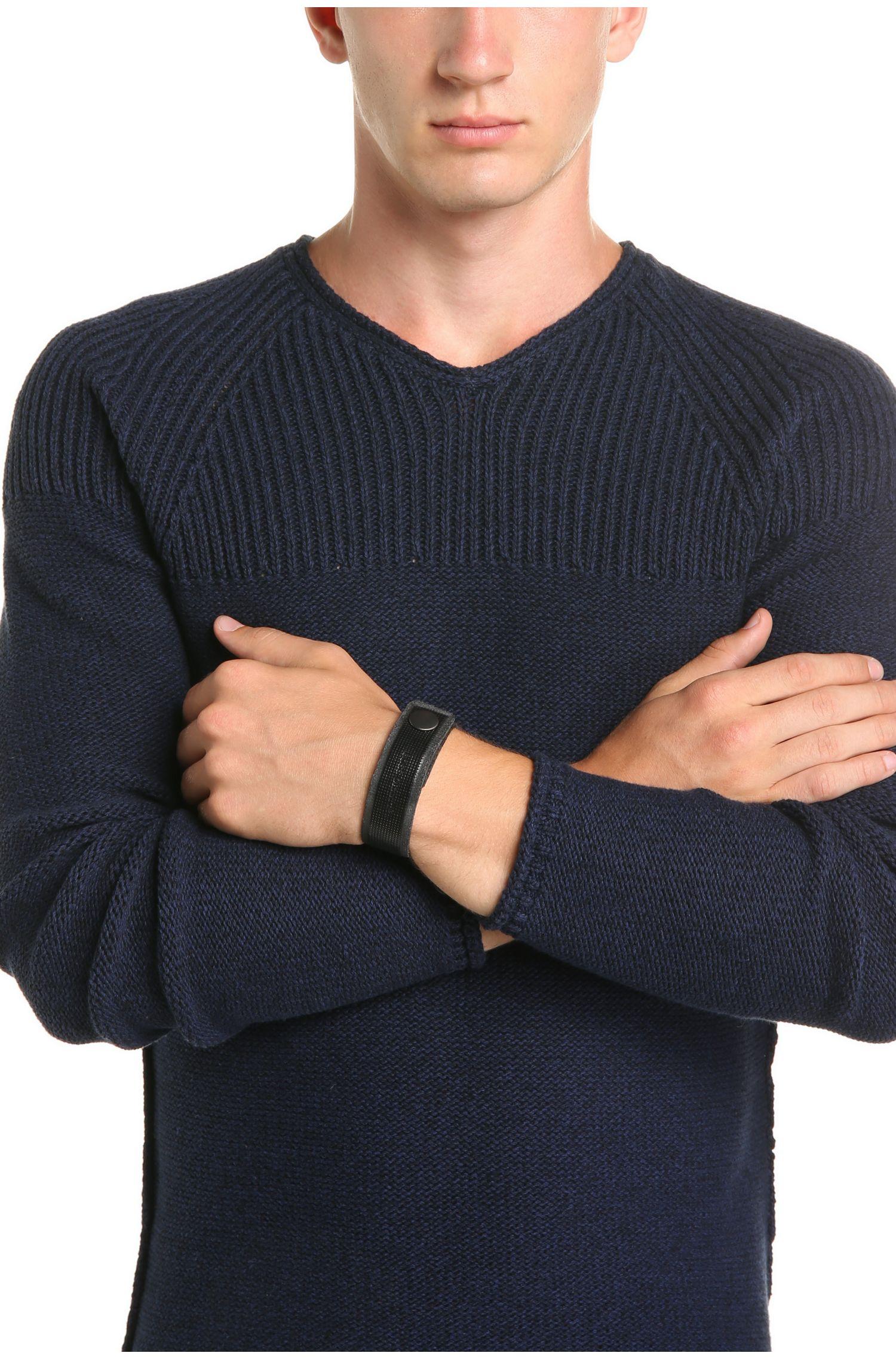Bracelet en cuir à gravure: «Maxence»