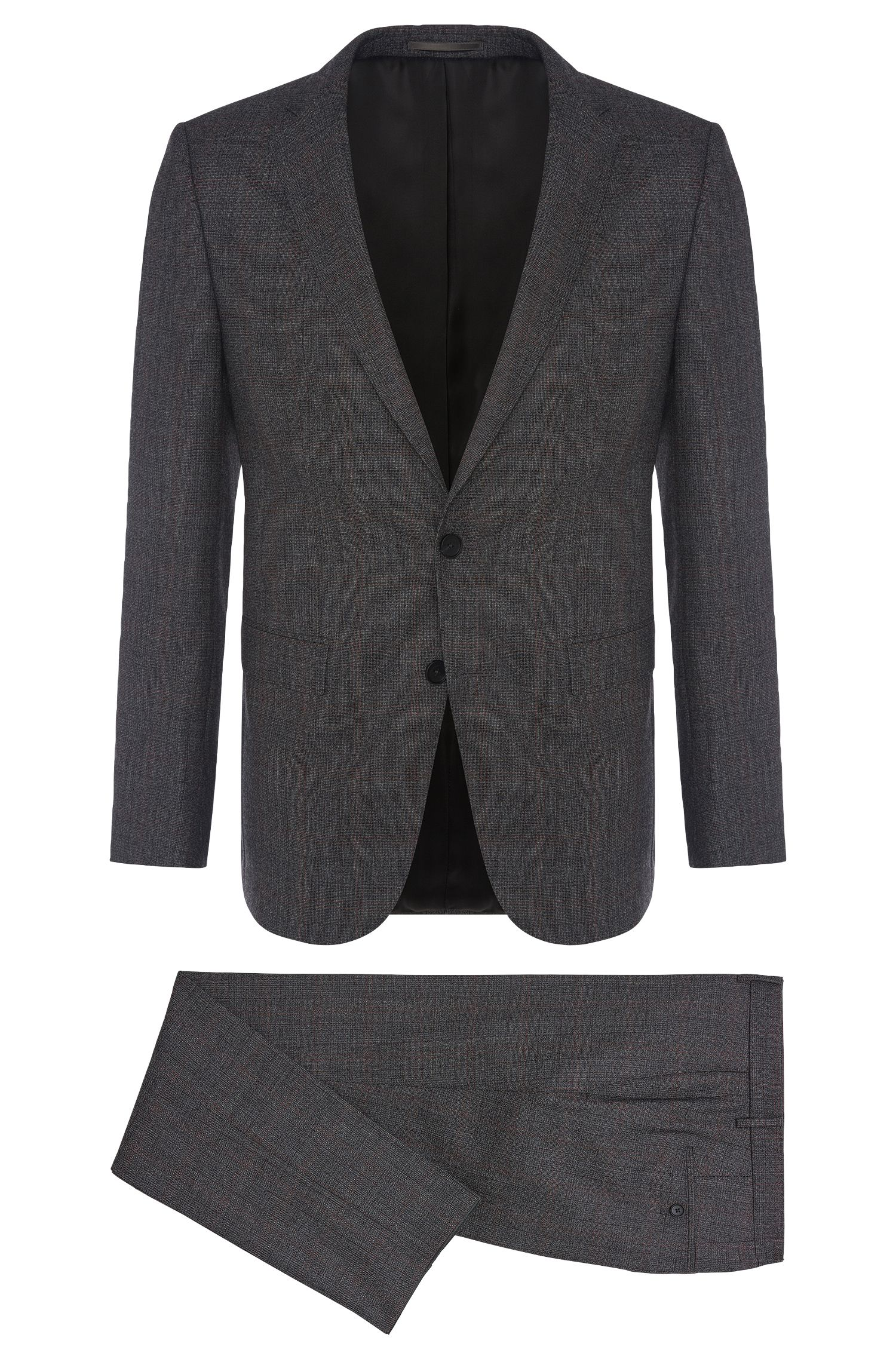 Finely checked slim-fit suit in new wool: 'Novan3/Ben'