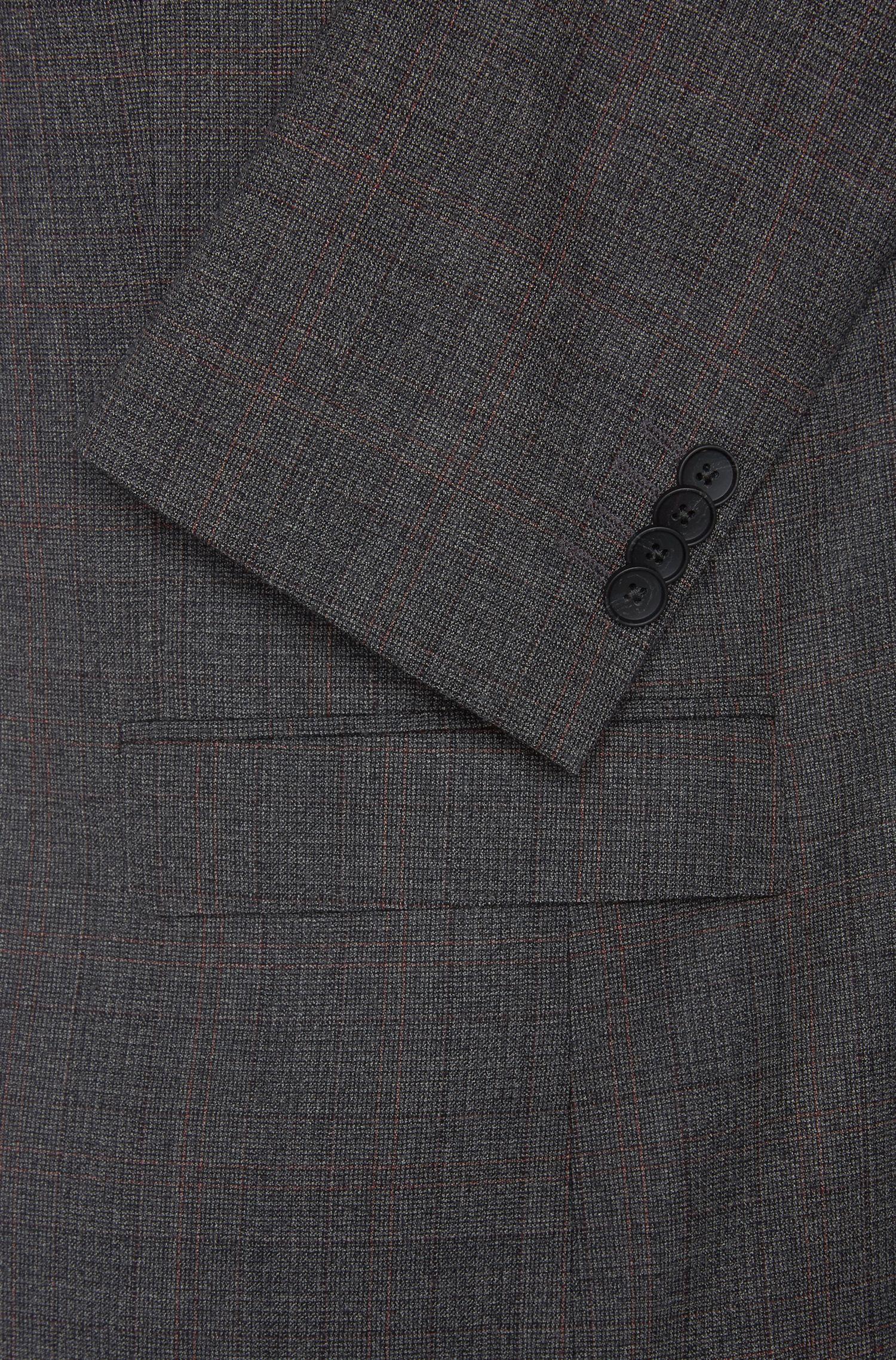 Costume Slim Fit en laine vierge à carreaux fins: «Novan3/Ben»