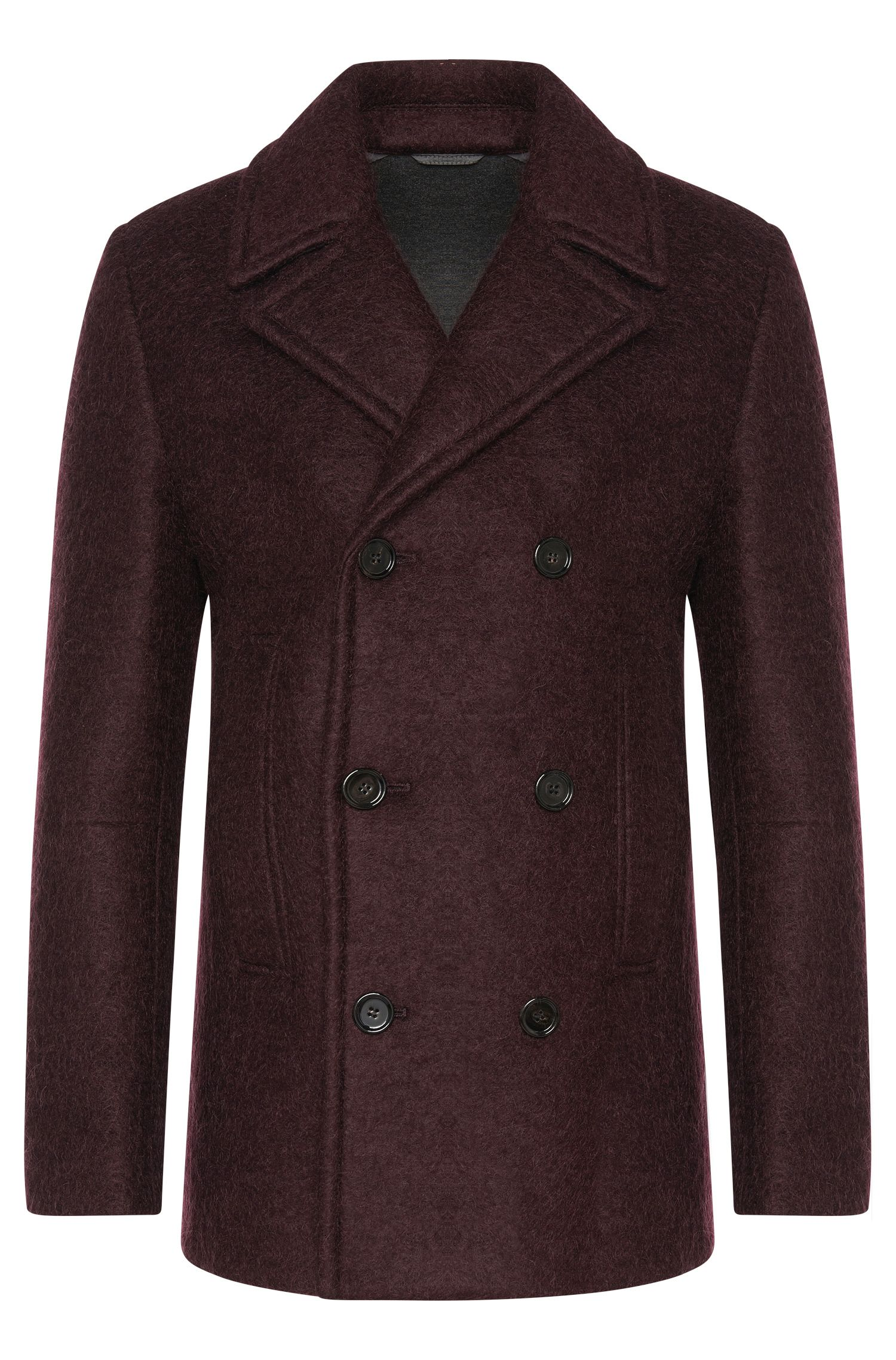 Coat in a linen blend with new wool: 'Nodin3'