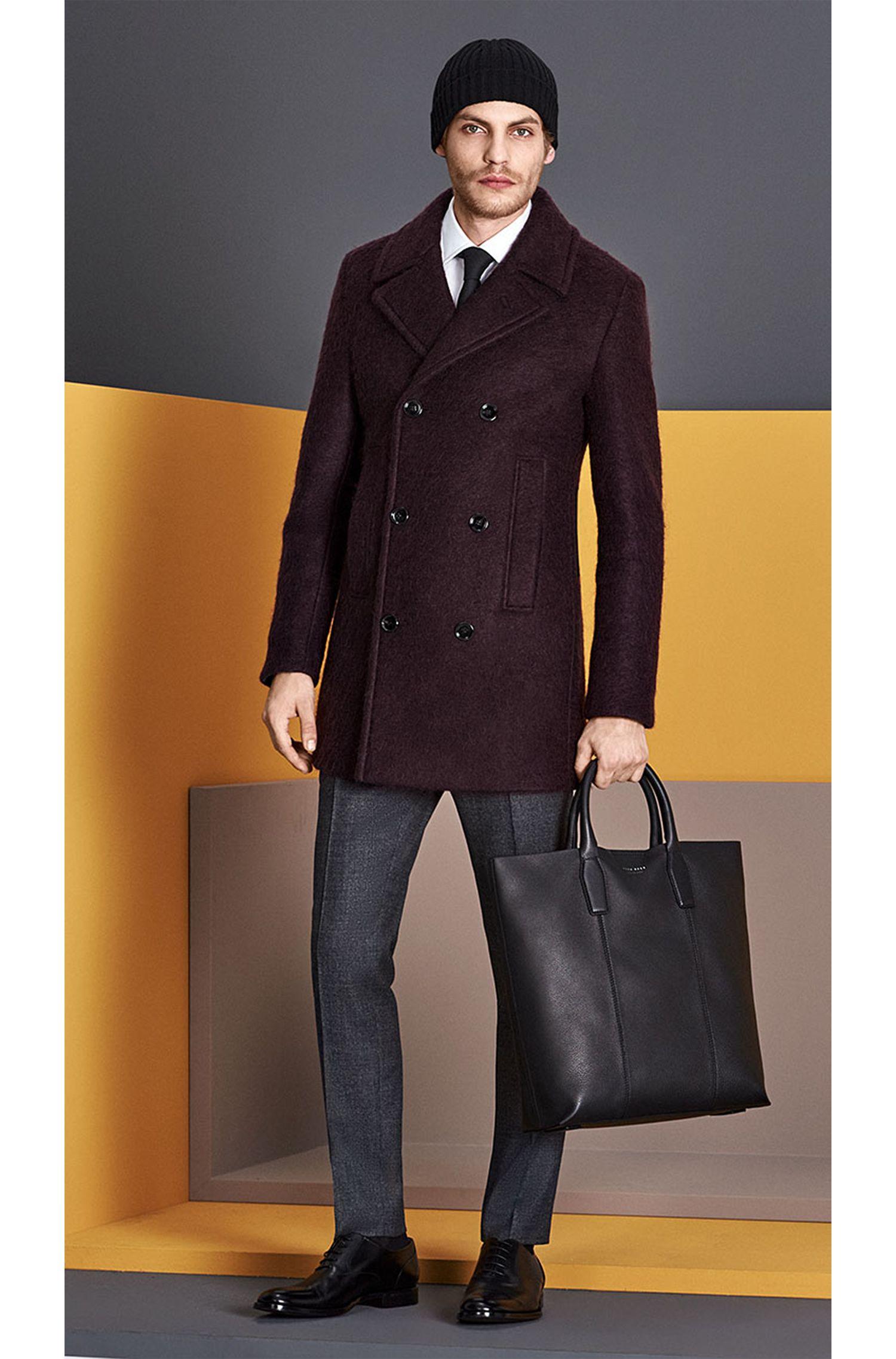 Manteau en lin mélangé à de la laine vierge. «Nodin3»