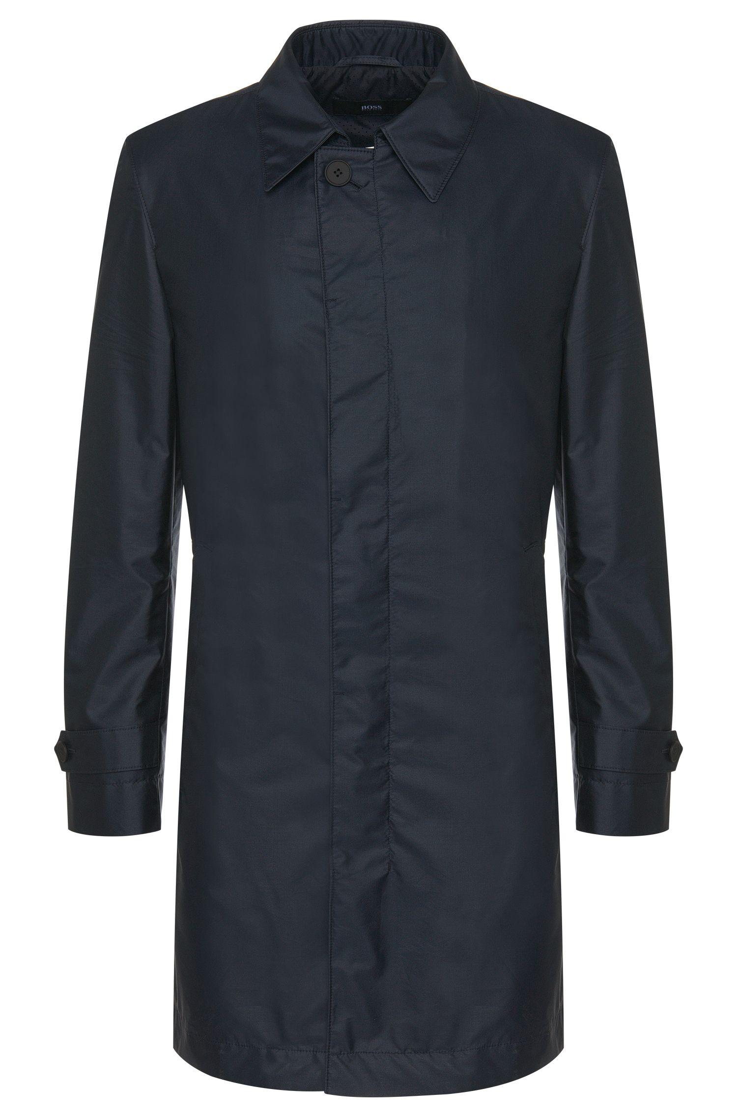 Mantel van een waterafstotende stof met zijde: 'Garret1'