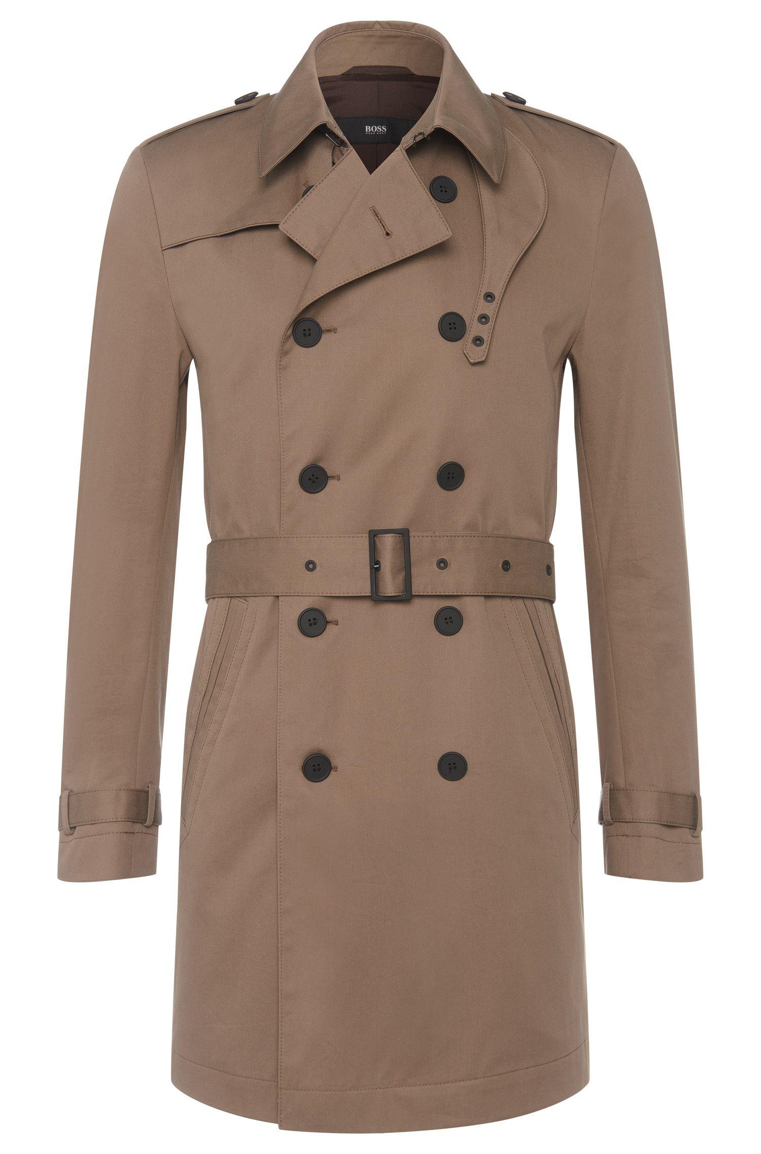 Cotton trench coat with wrap belt: 'Dan2'