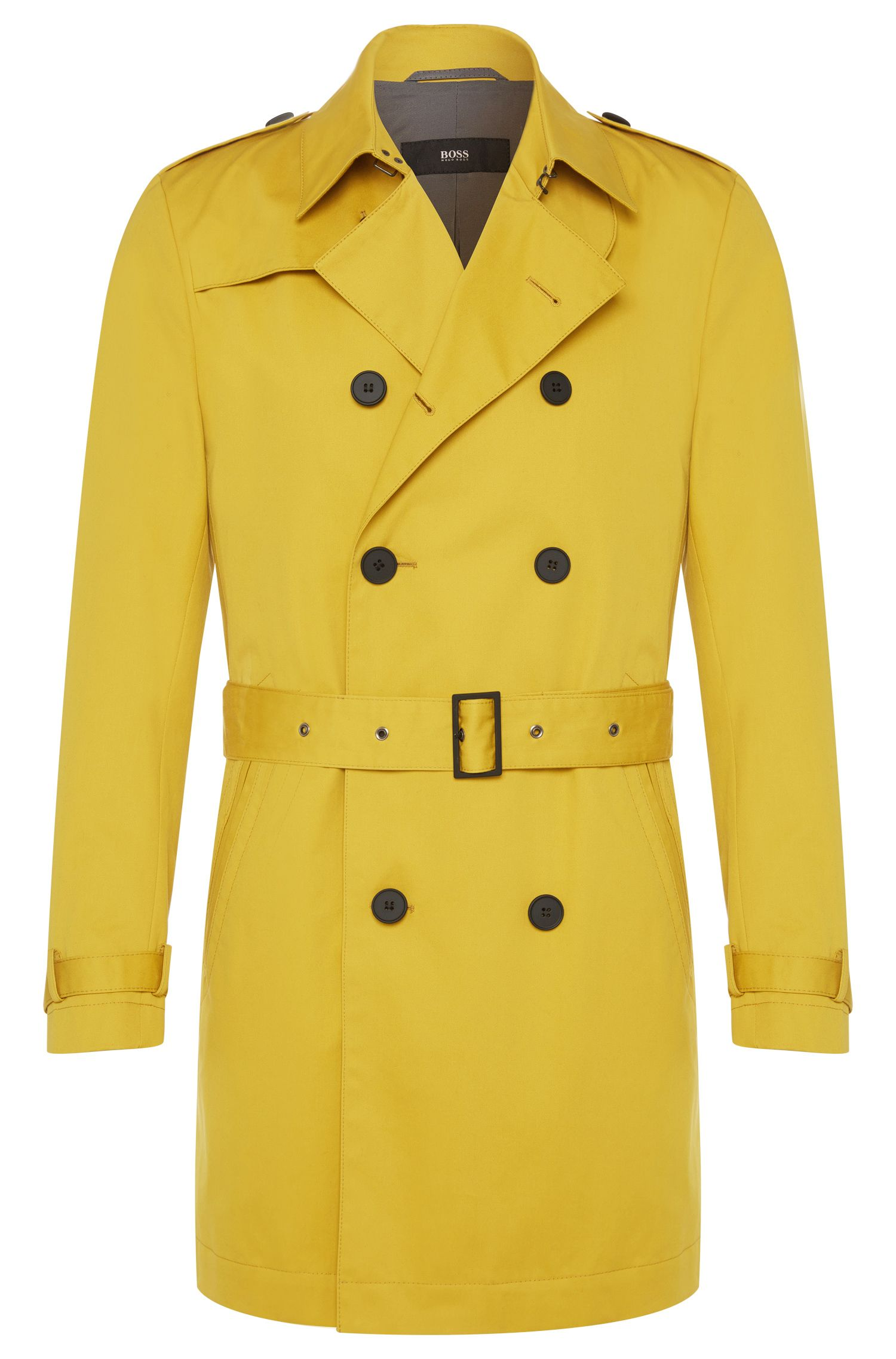 Cotton trench coat with wrap belt: 'Dan2'