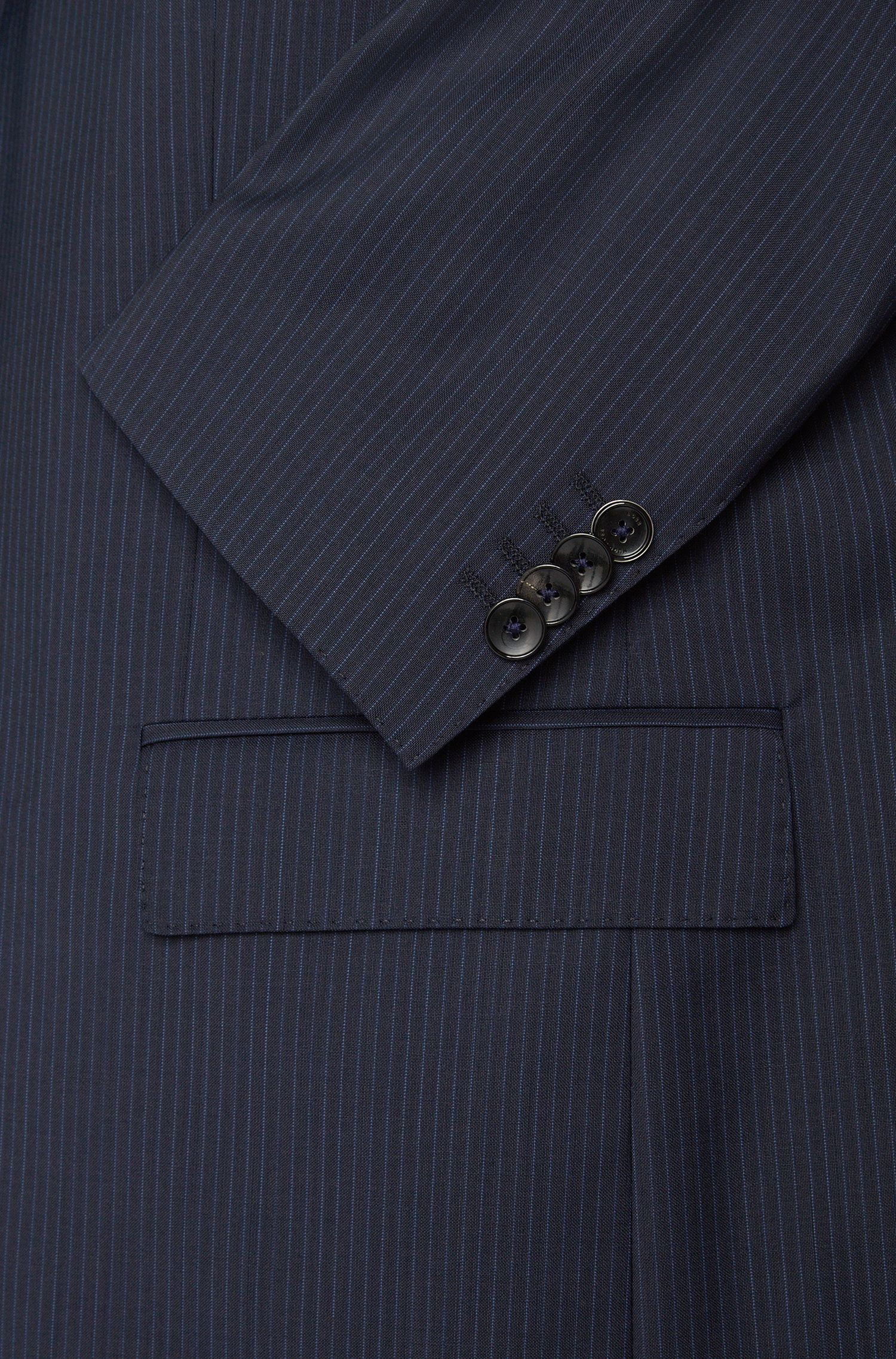 Regular-fit kostuum van scheerwol met krijtstrepen: 'Johnstons1/Lenon'