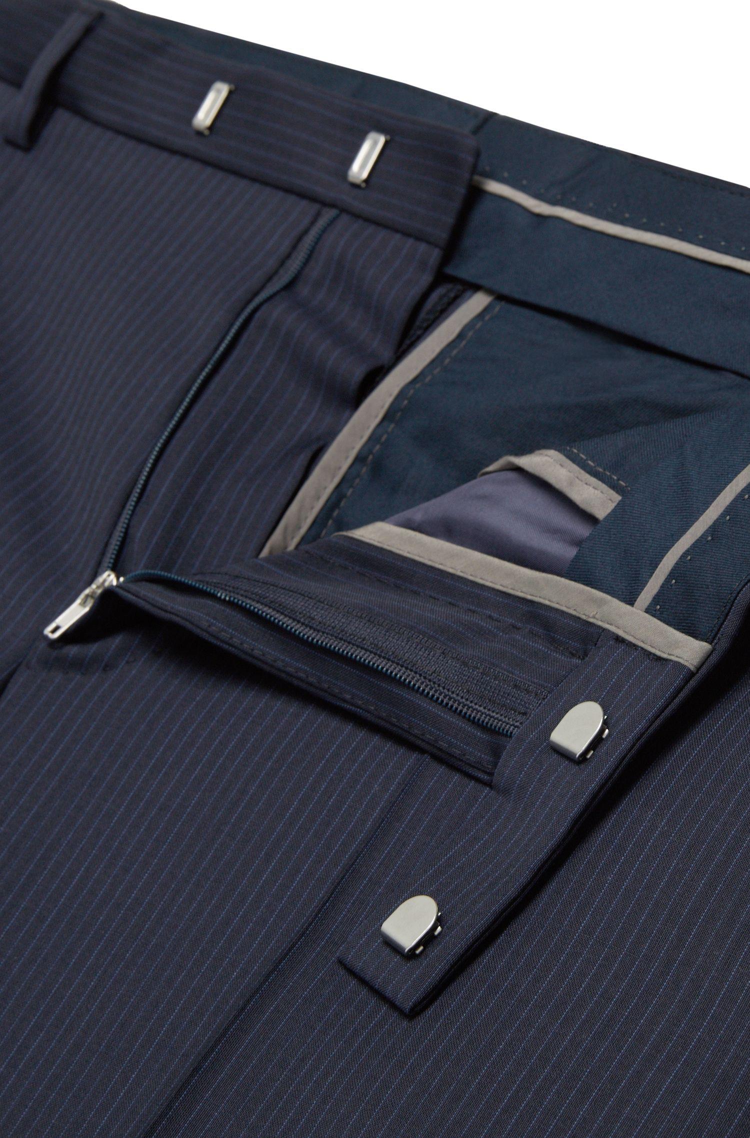 Regular-Fit Anzug aus Schurwolle mit Nadelstreifen 'Johnstons1/Lenon'