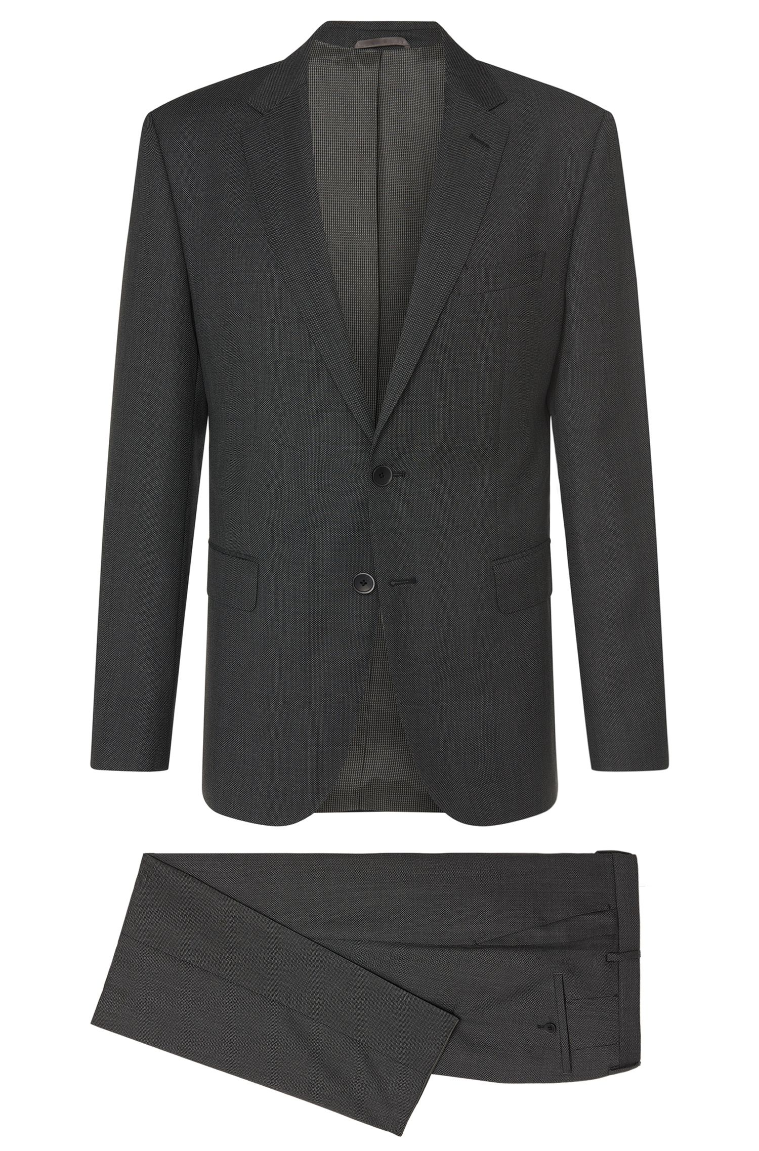 Gemusterter Regular-Fit Anzug aus Schurwolle: 'Jewels/Linus'