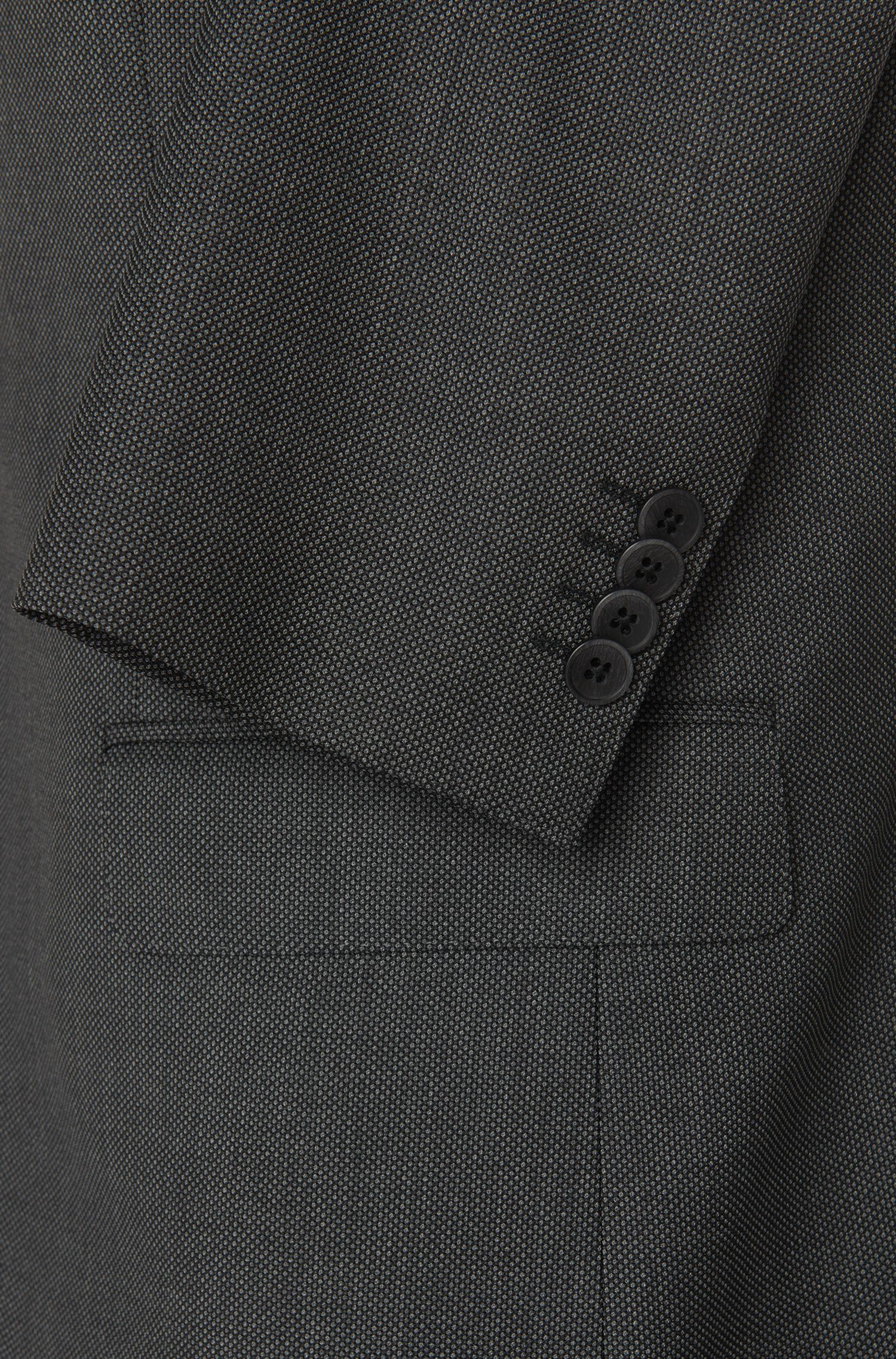 Regular-fit kostuum van scheerwol met dessin: 'Jewels/Linus'