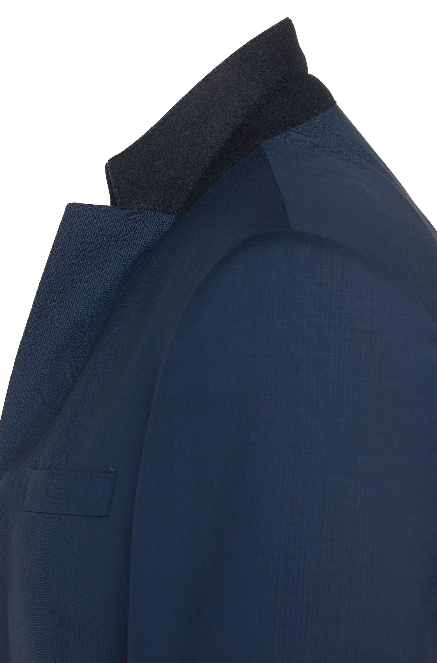 Slim-Fit Anzug aus Schurwolle mit feiner Struktur: 'Huge4/Genius3'