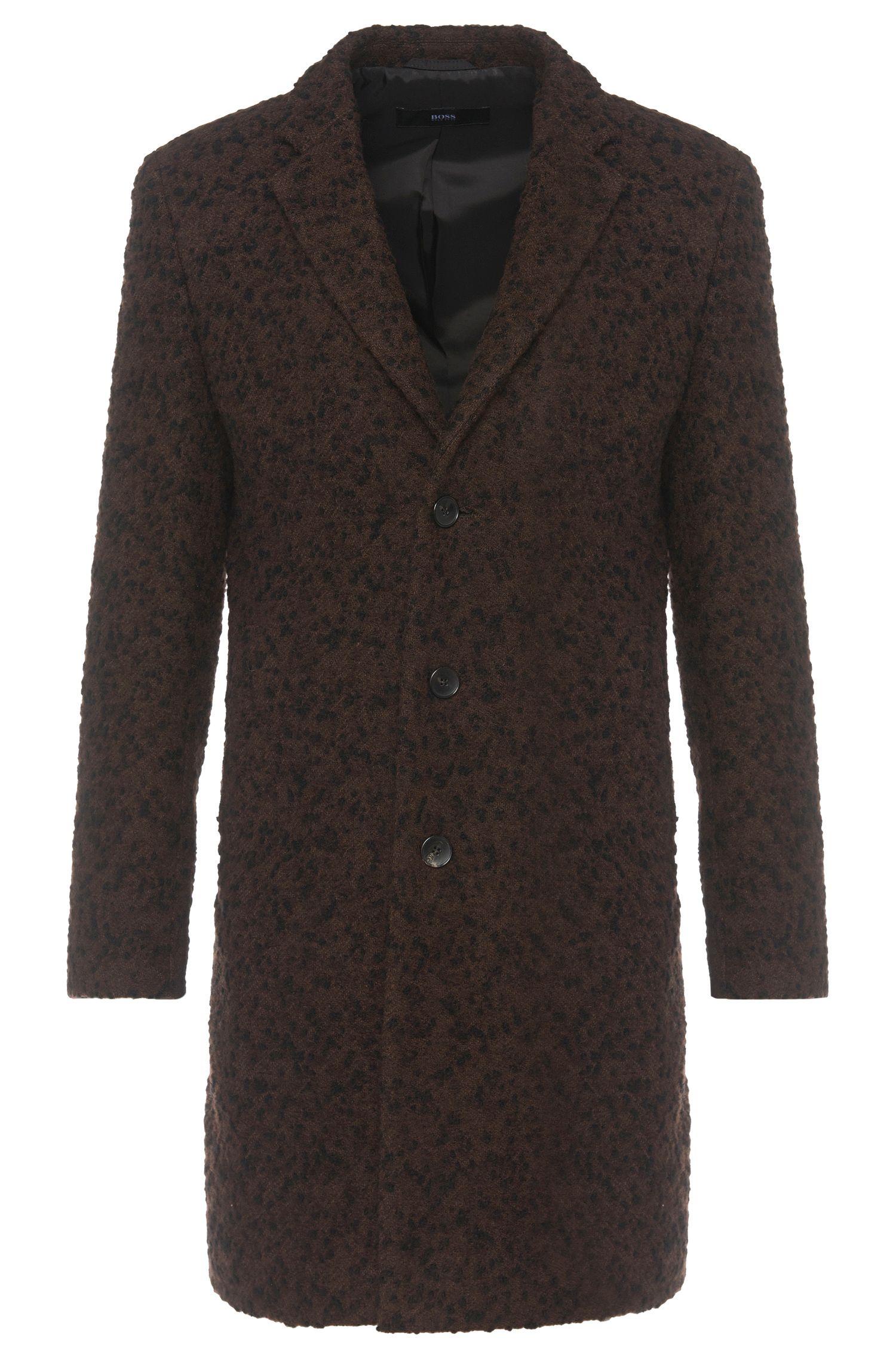 Manteau en alpaga mélangé, rehaussé de fil fantaisie: «Nye»