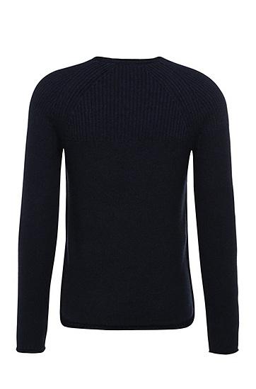 Schmal geschnittener Pullover aus Baumwolle: ´Arkus`, Dunkelblau