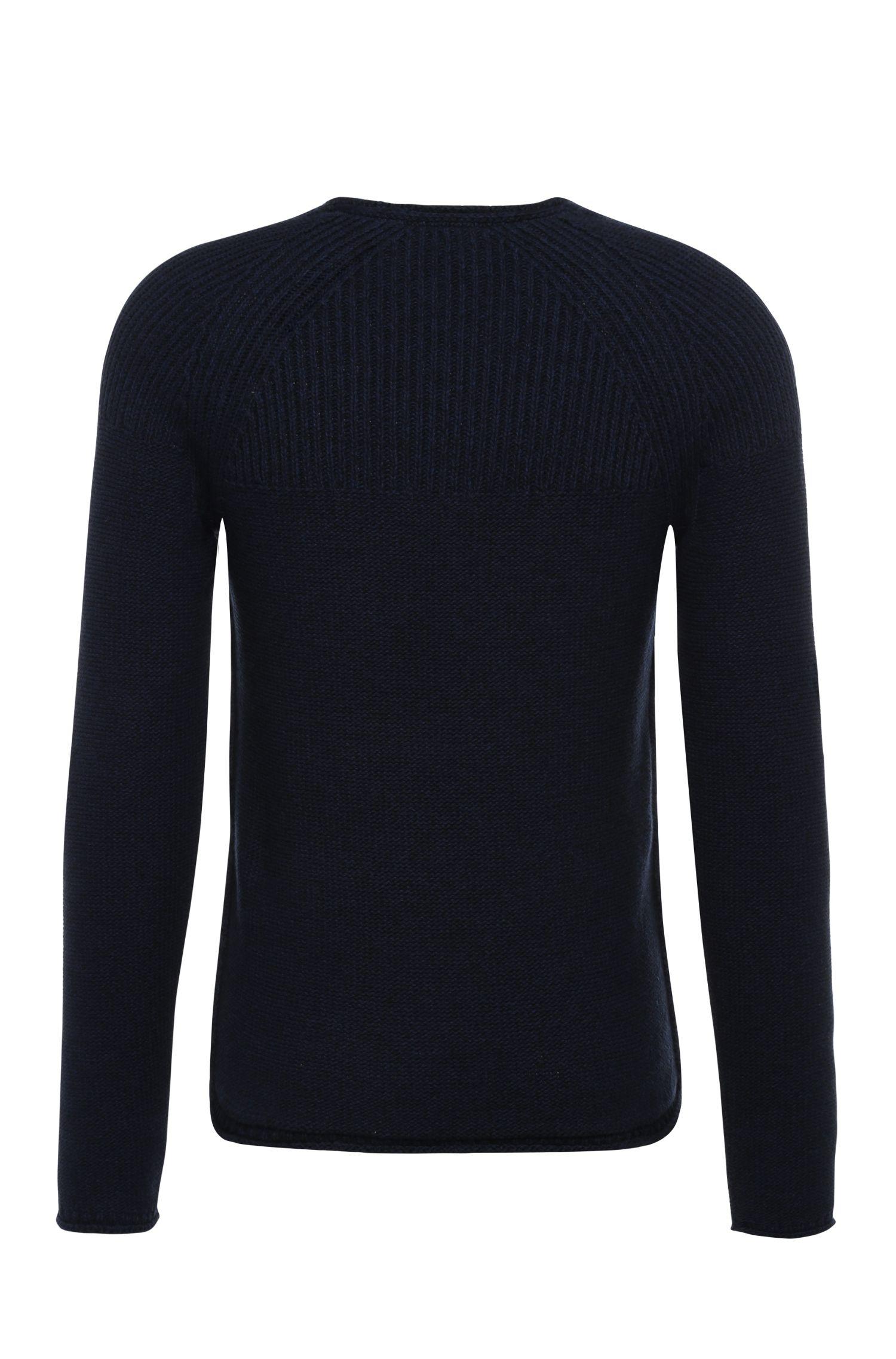 Schmal geschnittener Pullover aus Baumwolle: ´Arkus`