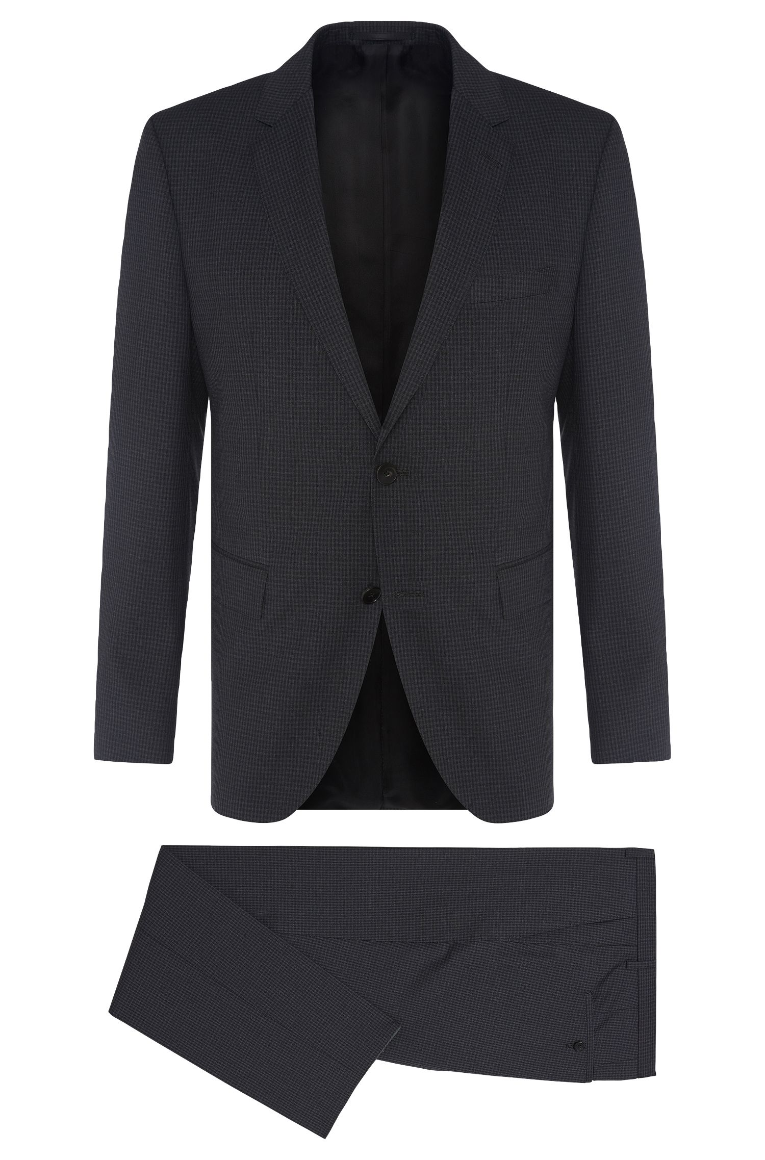 Gemusterter Regular-Fit Anzug aus Schurwolle: 'Johnstons1/Lenon'