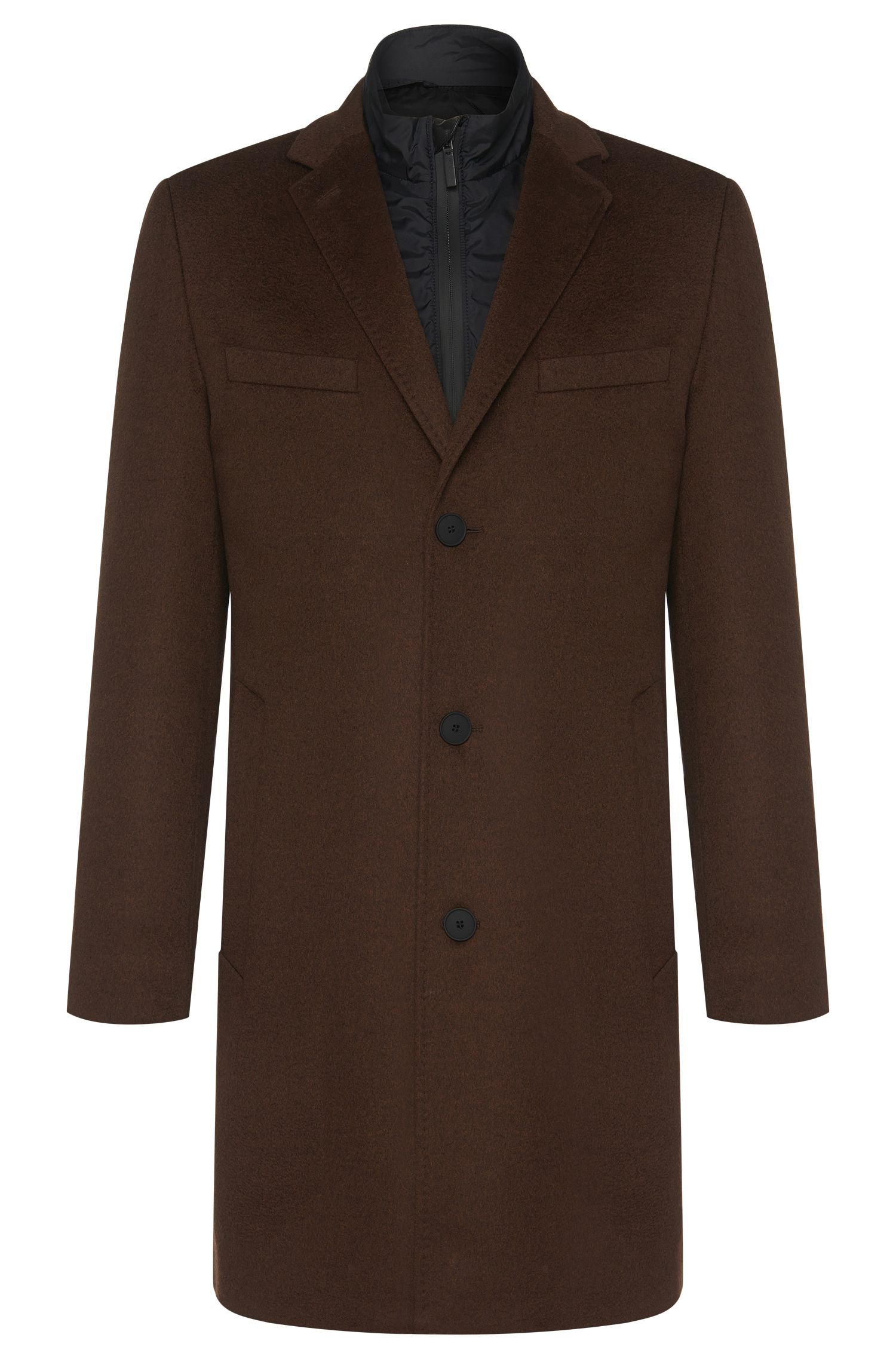 Tailored coat in new-wool blend with cashmere and a detachable lining: 'T-Lennard2'