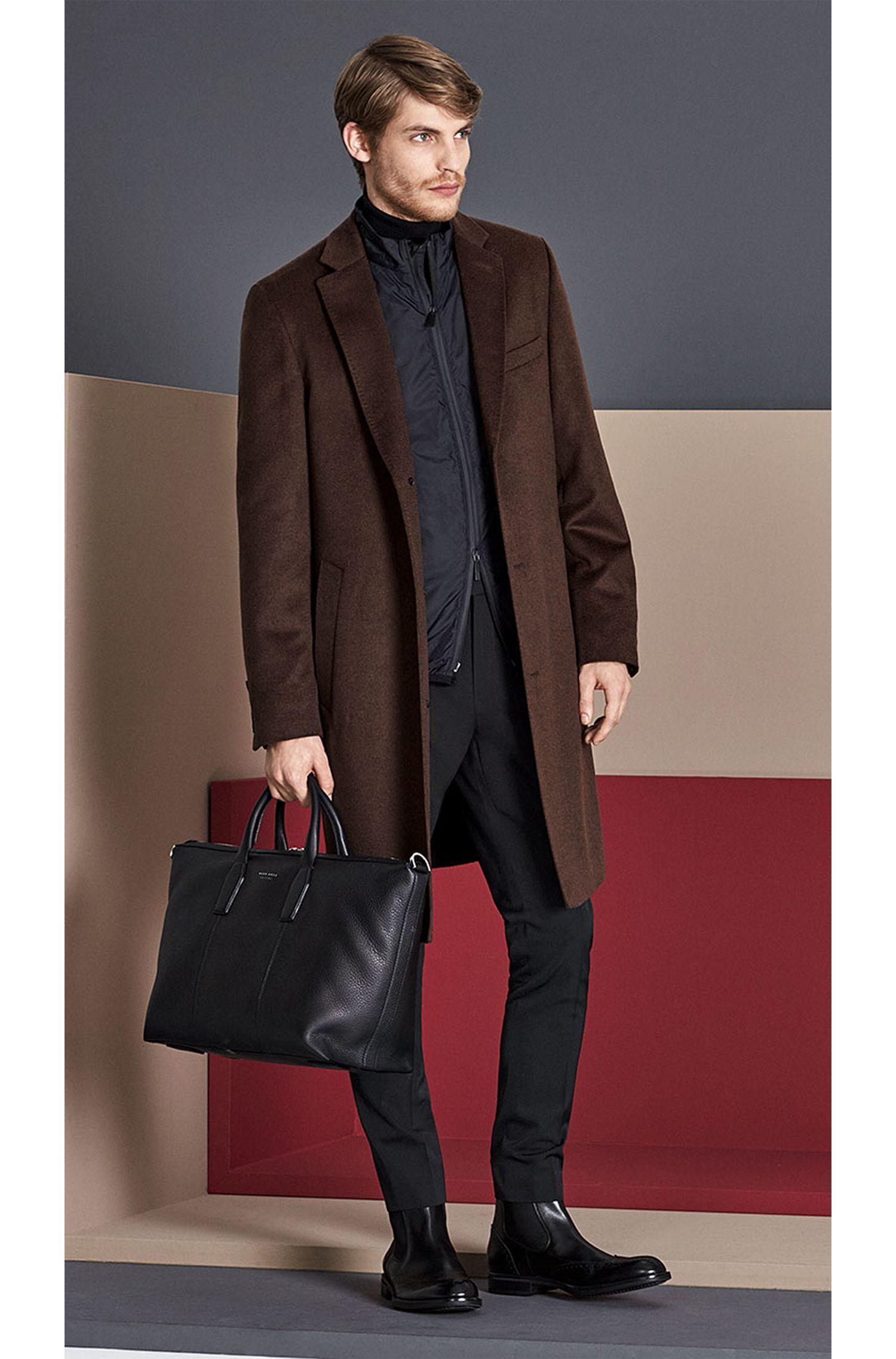 Tailored Mantel aus Schurwoll-Mix mit Kaschmir-Anteil und herausnehmbarem Futter: 'T-Lennard2'