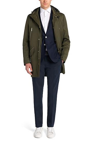Mantel mit heraustrennbarem Futter: 'Denny', Khaki
