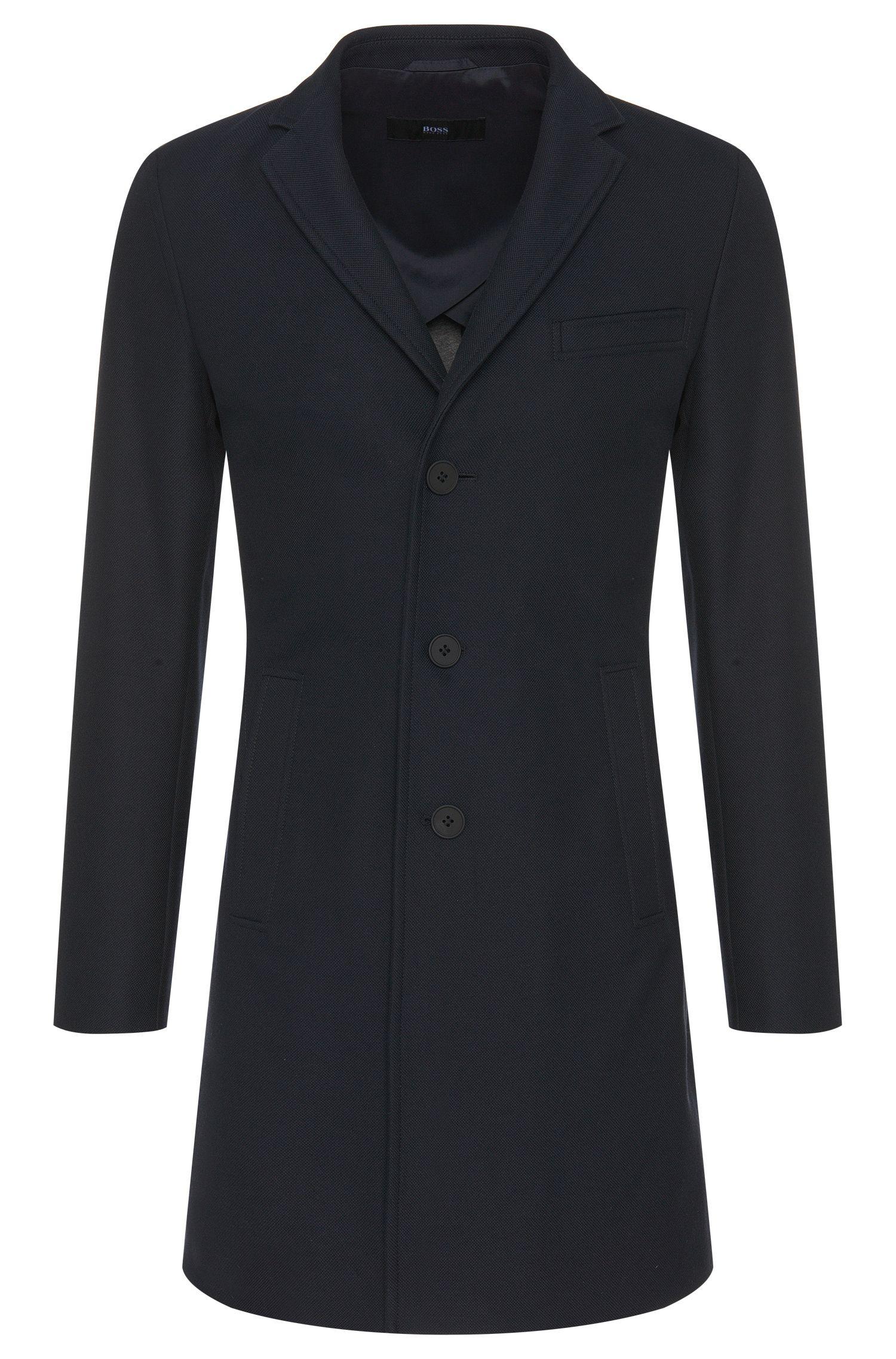 Manteau en coton mélangé doté d'un col à revers: «Shawn2»