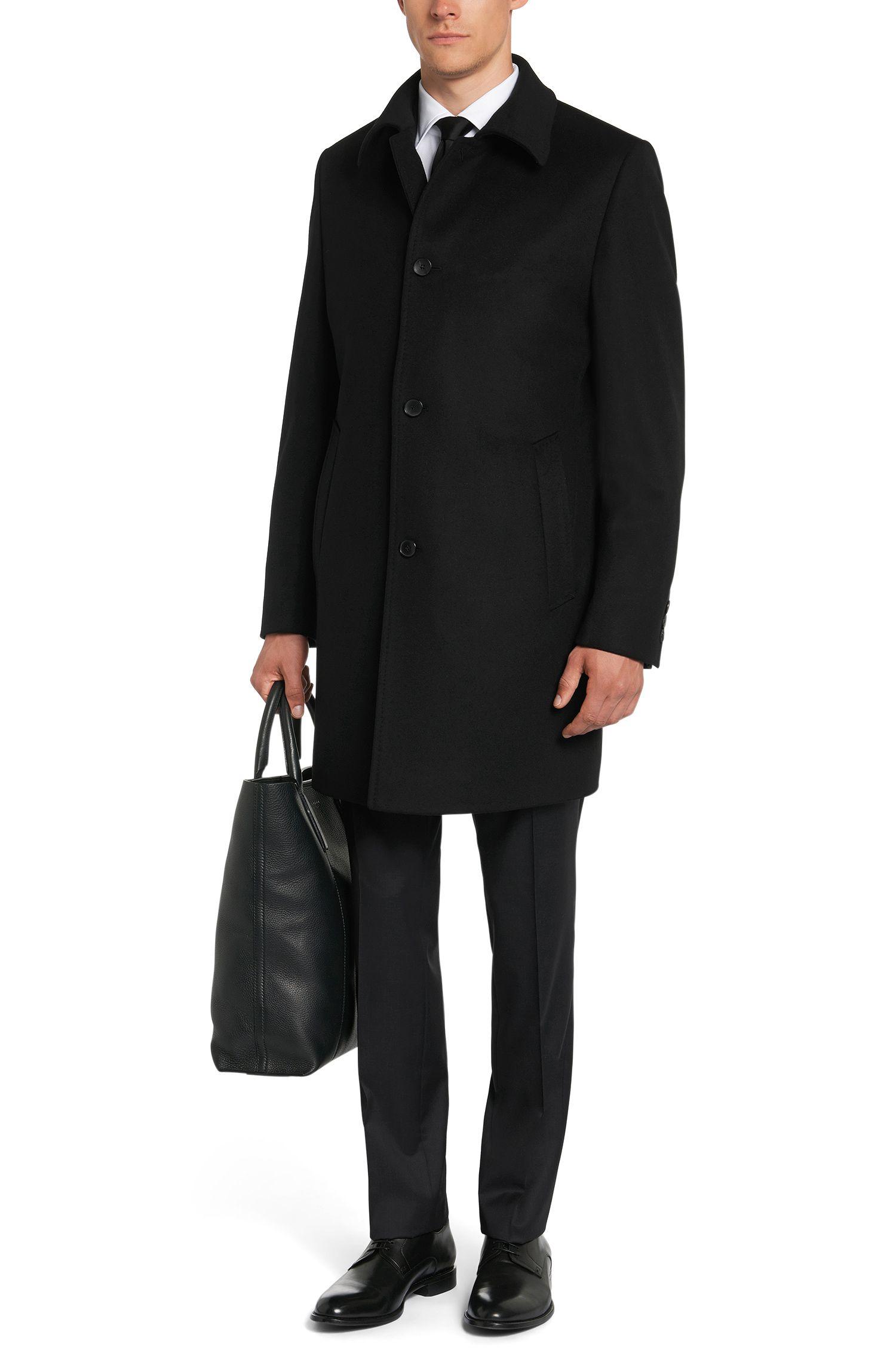 Manteau finement chiné, confectionné en laine vierge mélangée à teneur en cachemire: «Task1»