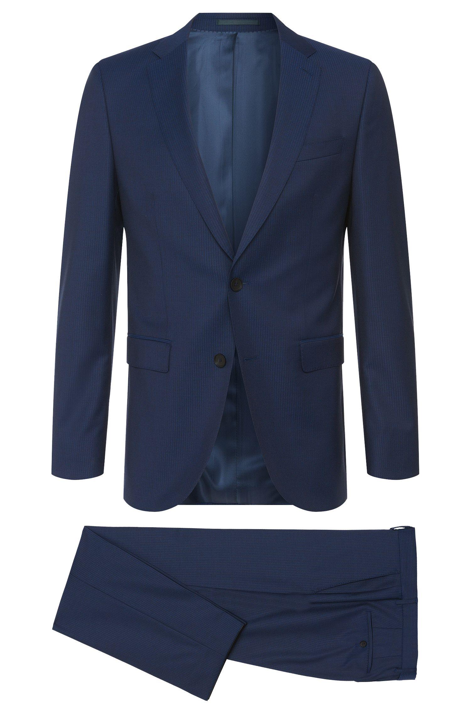 Striped slim-fit suit in new wool: 'Novan3/Ben'