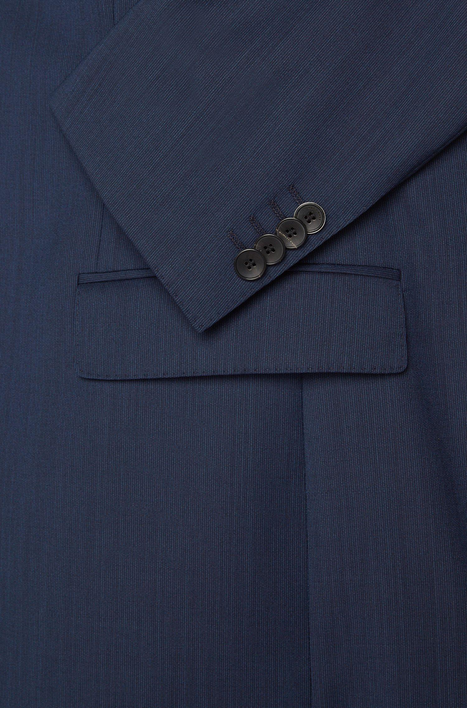 Fein gemusterter Slim-Fit Anzug aus Schurwolle: 'Huge4/Genius3'