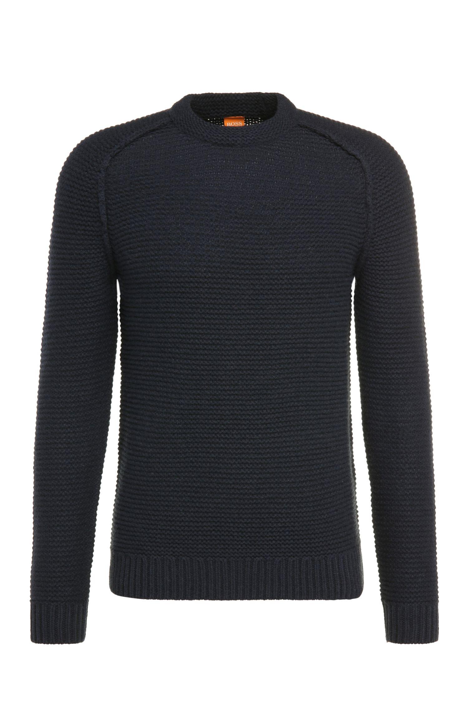 Textured slim-fit new-wool sweater: 'Katars'