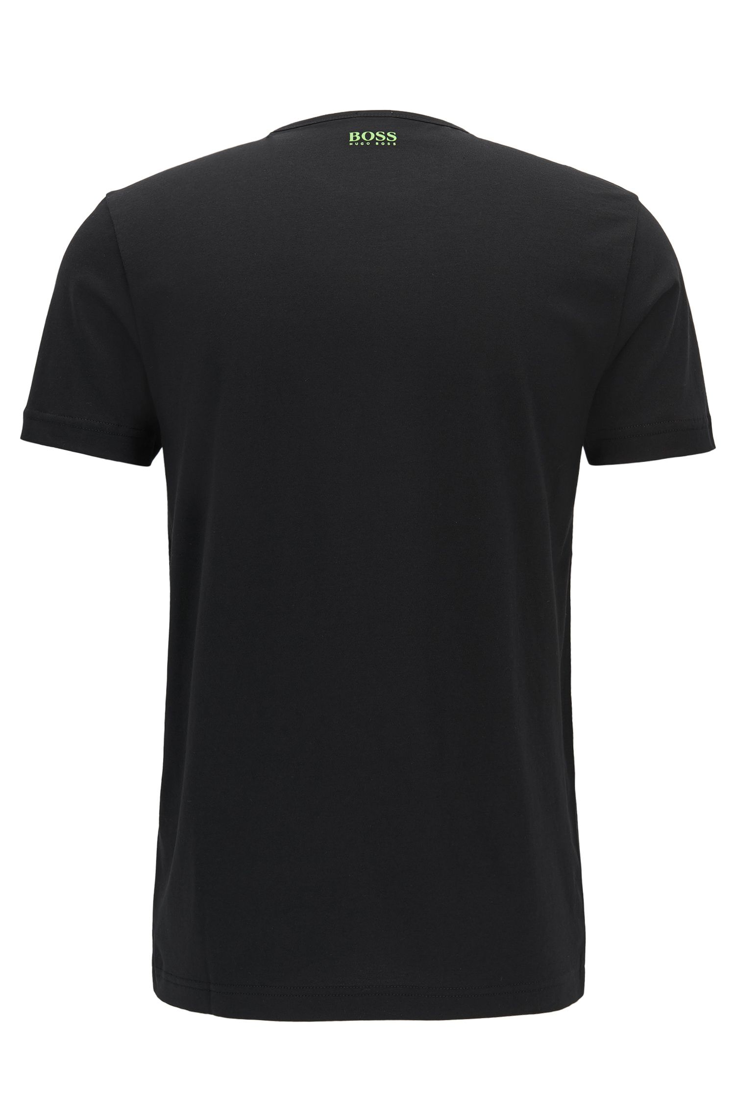 Regular-Fit Baumwollshirt mit Label-Print: ´Tee 1`