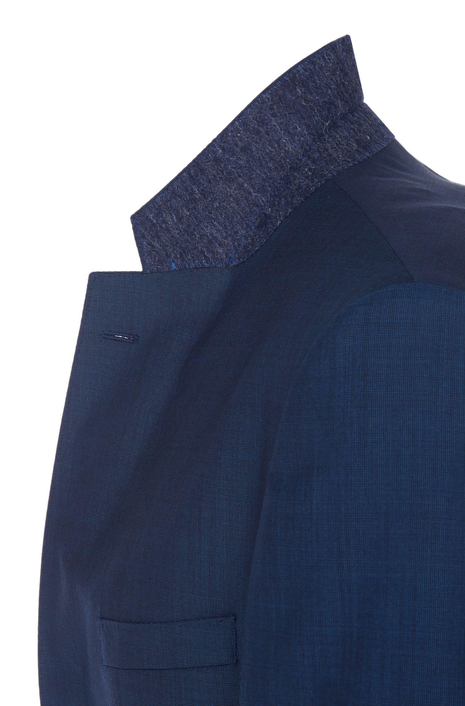 Costume Regular Fit à motif fin en laine vierge mélangée à teneur en soie: «Johnstons1/Lenon»