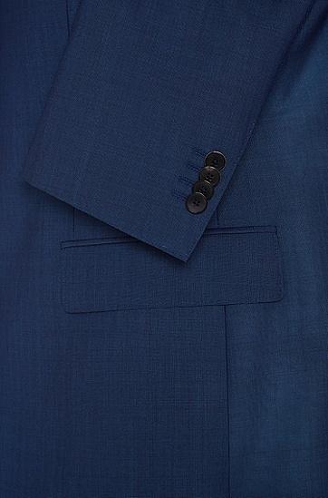 Fein gemusterter Regular-Fit Anzug aus Schurwoll-Mix mit Seide: 'Johnstons1/Lenon', Blau