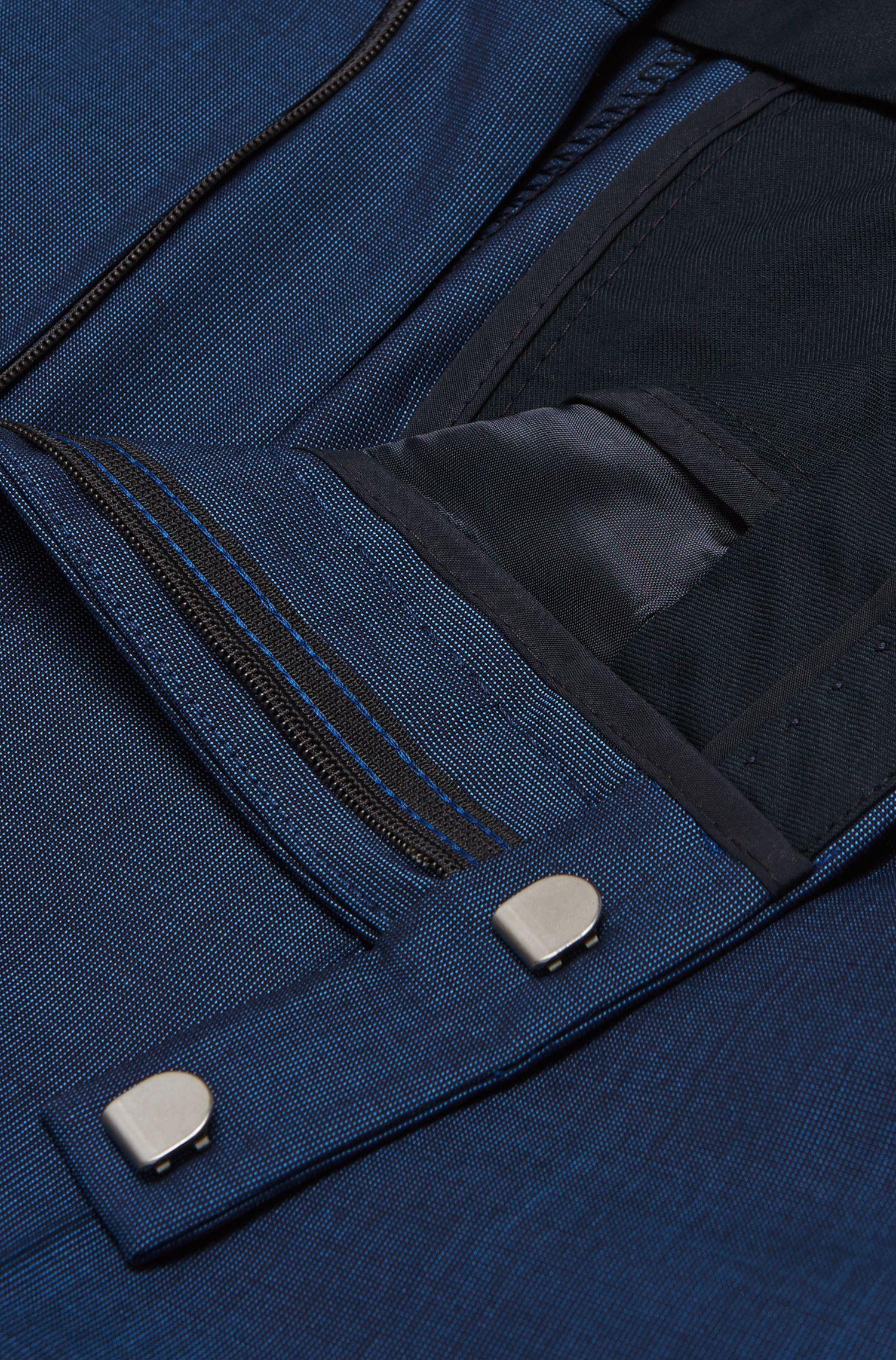 Fein gemusterter Regular-Fit Anzug aus Schurwoll-Mix mit Seide: 'Johnstons1/Lenon'