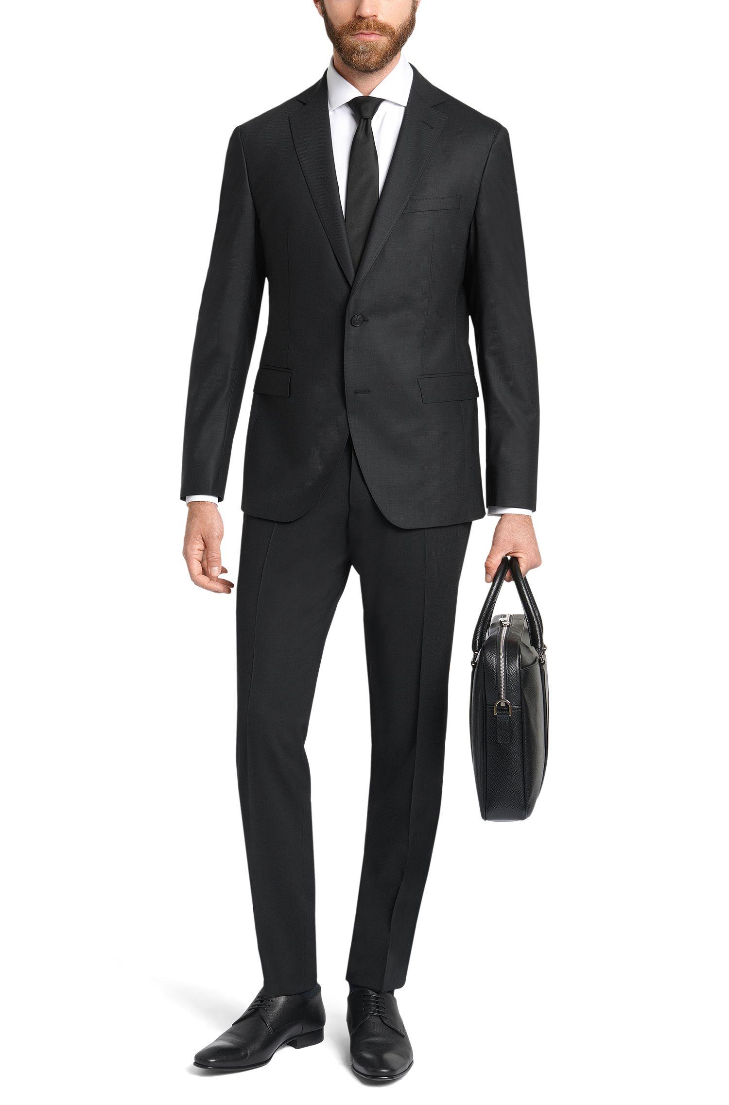 Extra Slim-Fit Anzug aus Schurwoll-Mix: 'Reyno2/Wave1'