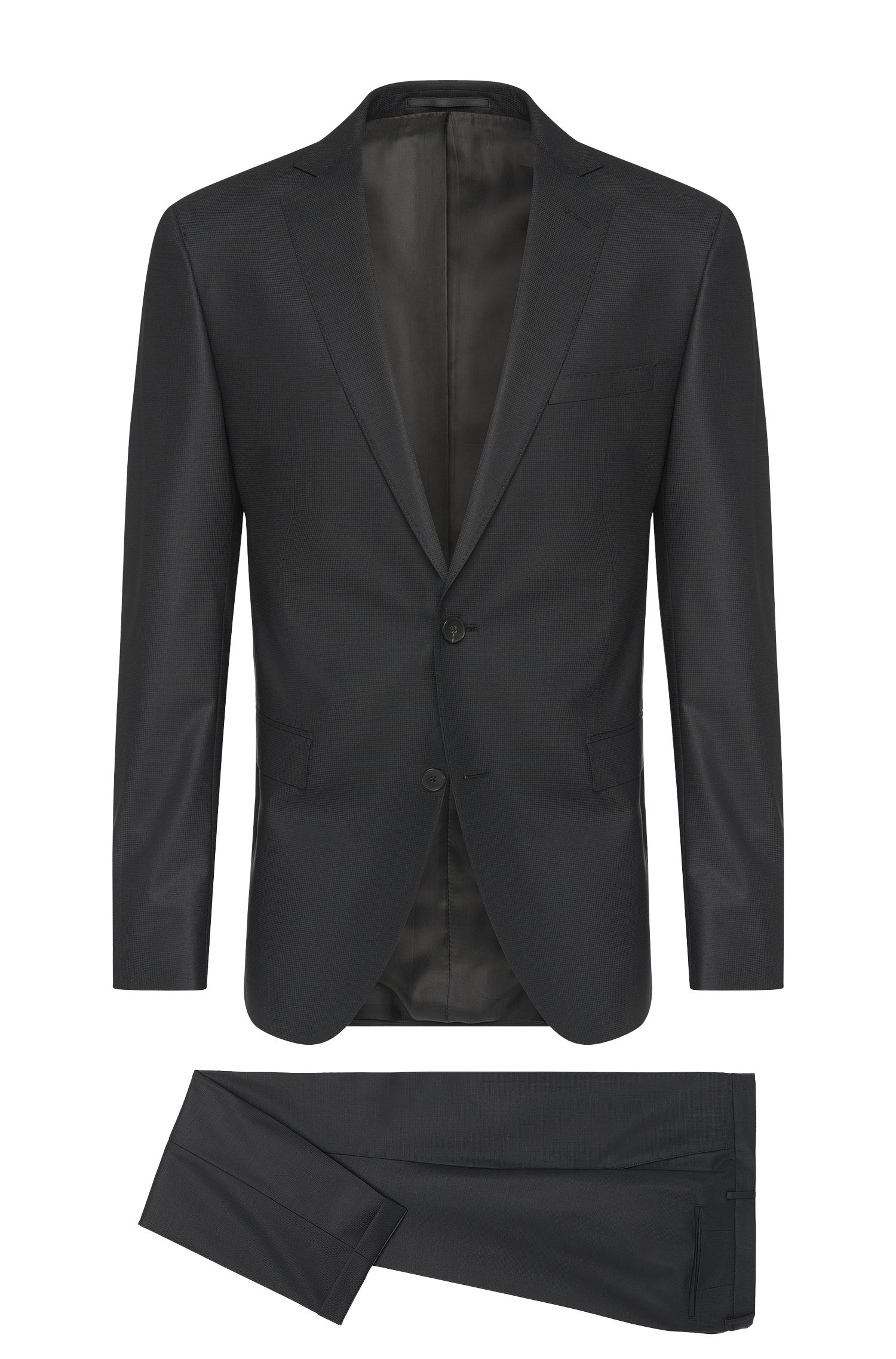Extra-slim-fit suit in new-wool blend: 'Reyno2/Wave1'