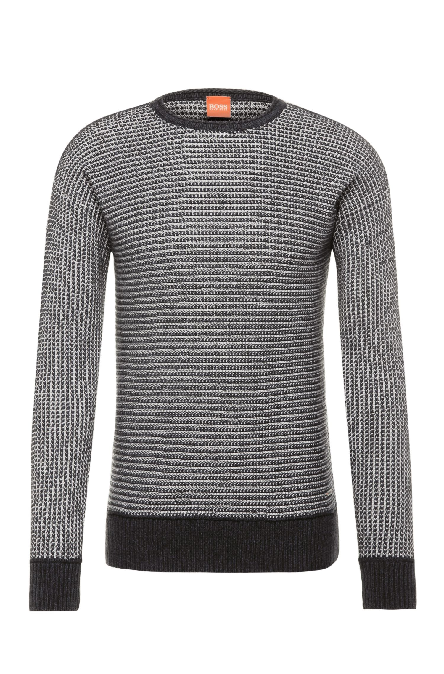 Slim-fit knit sweater in cotton: 'Arkuso'