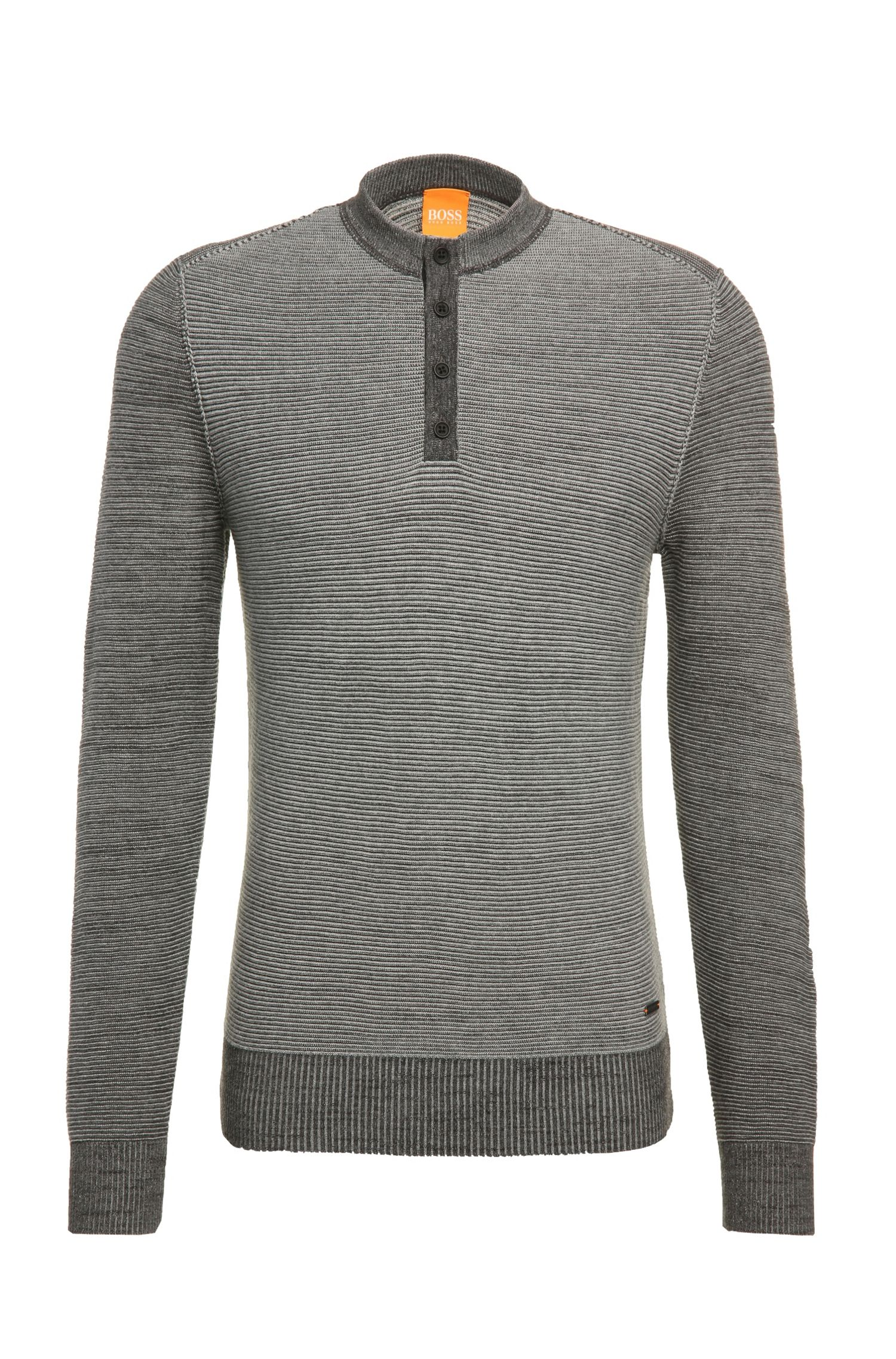 Slim-fit sweater in knitted cotton: 'Kenhenry'